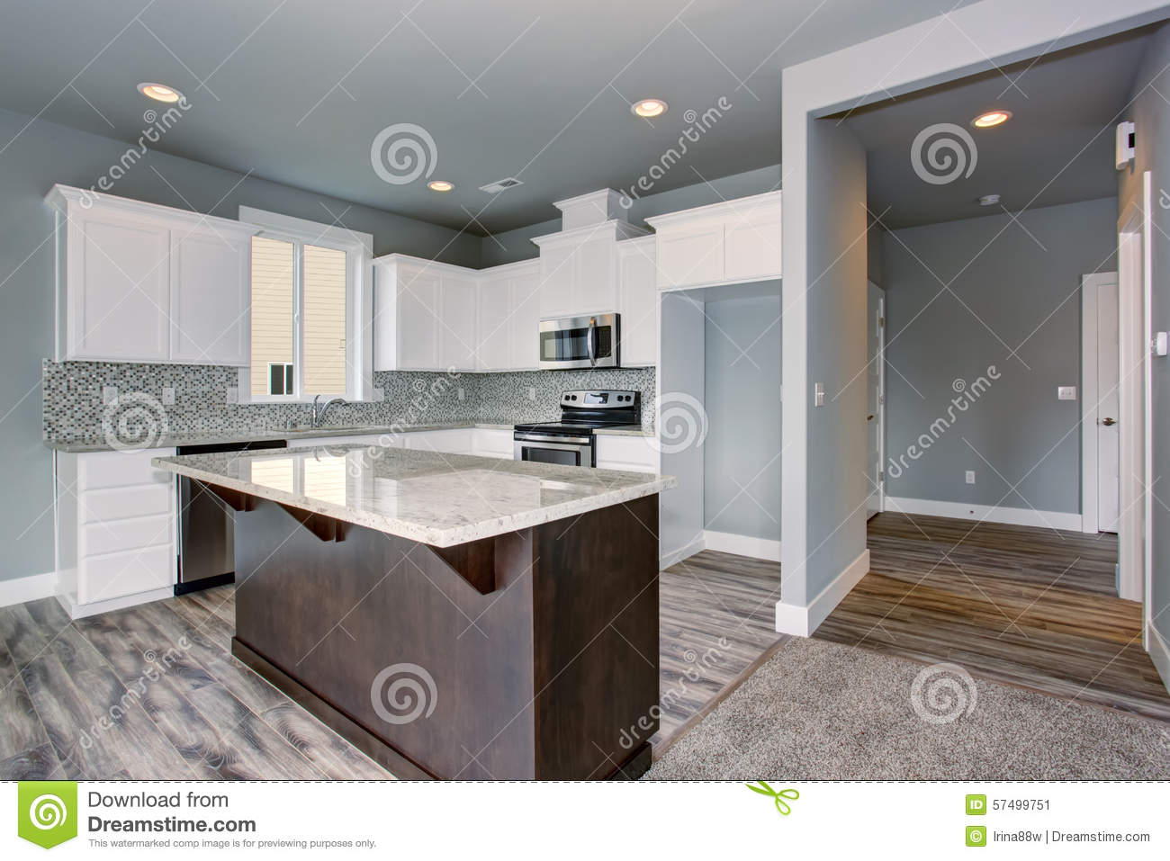Unique Kitchen Floors Unique Kitchen With Gray Hardwood Floor Stock Photo Image 57499751