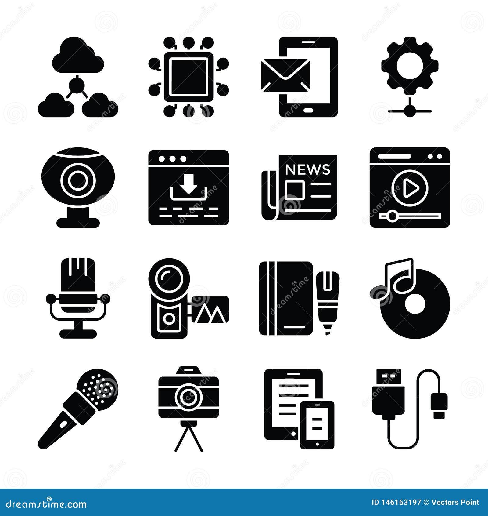 Data Communication Icons Set