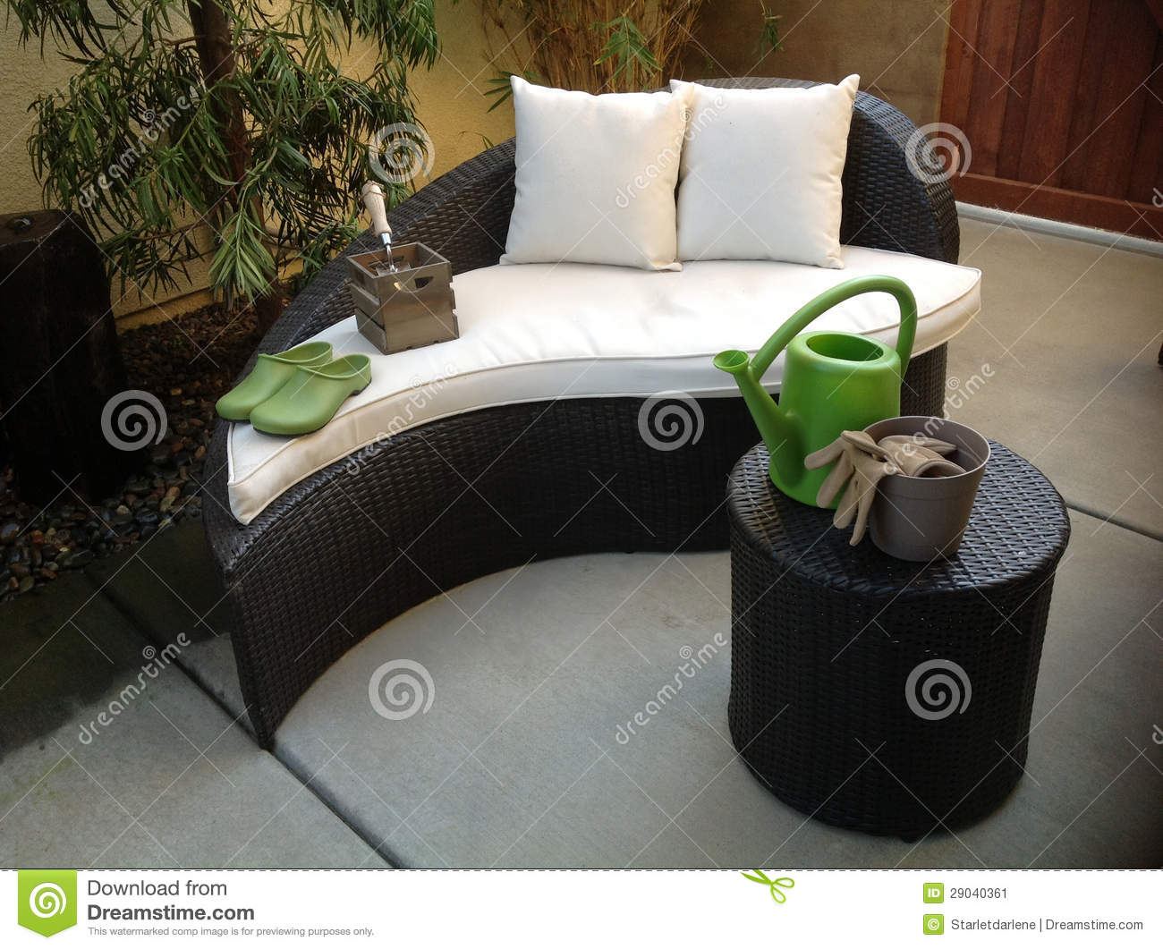 Unique Patio Furniture Stock Image Image 29040361