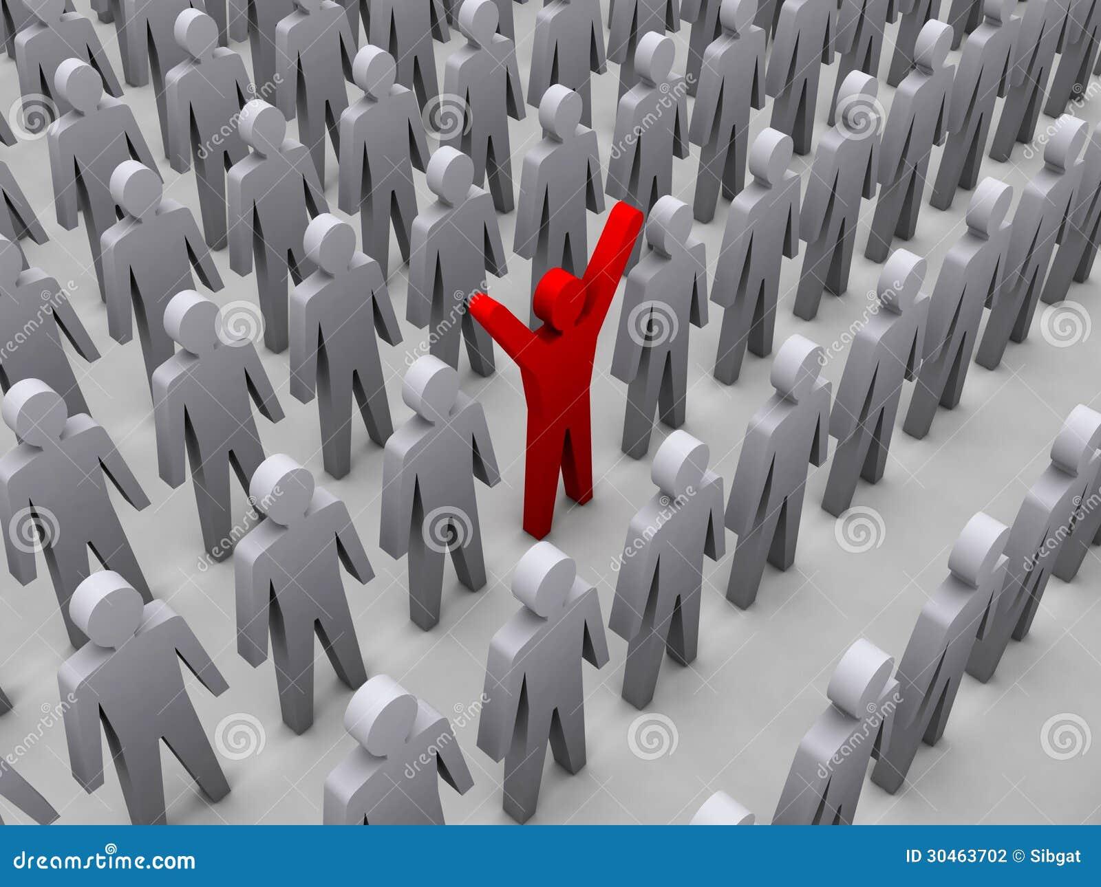Unique person in crowd  Unique Person In A Crowd
