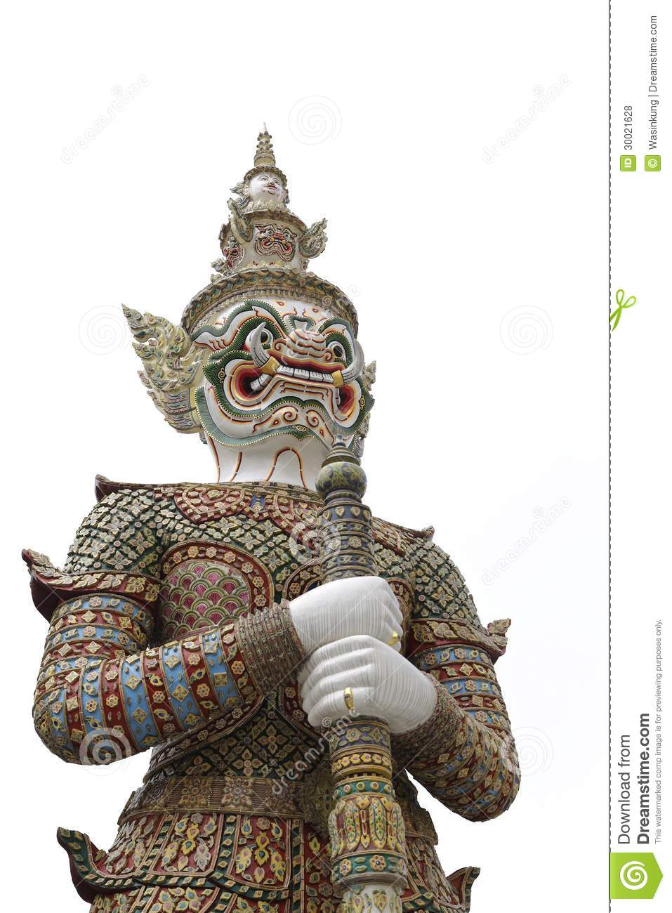 Thai Giant Temple Guardian Stock Photo Image Of Fang