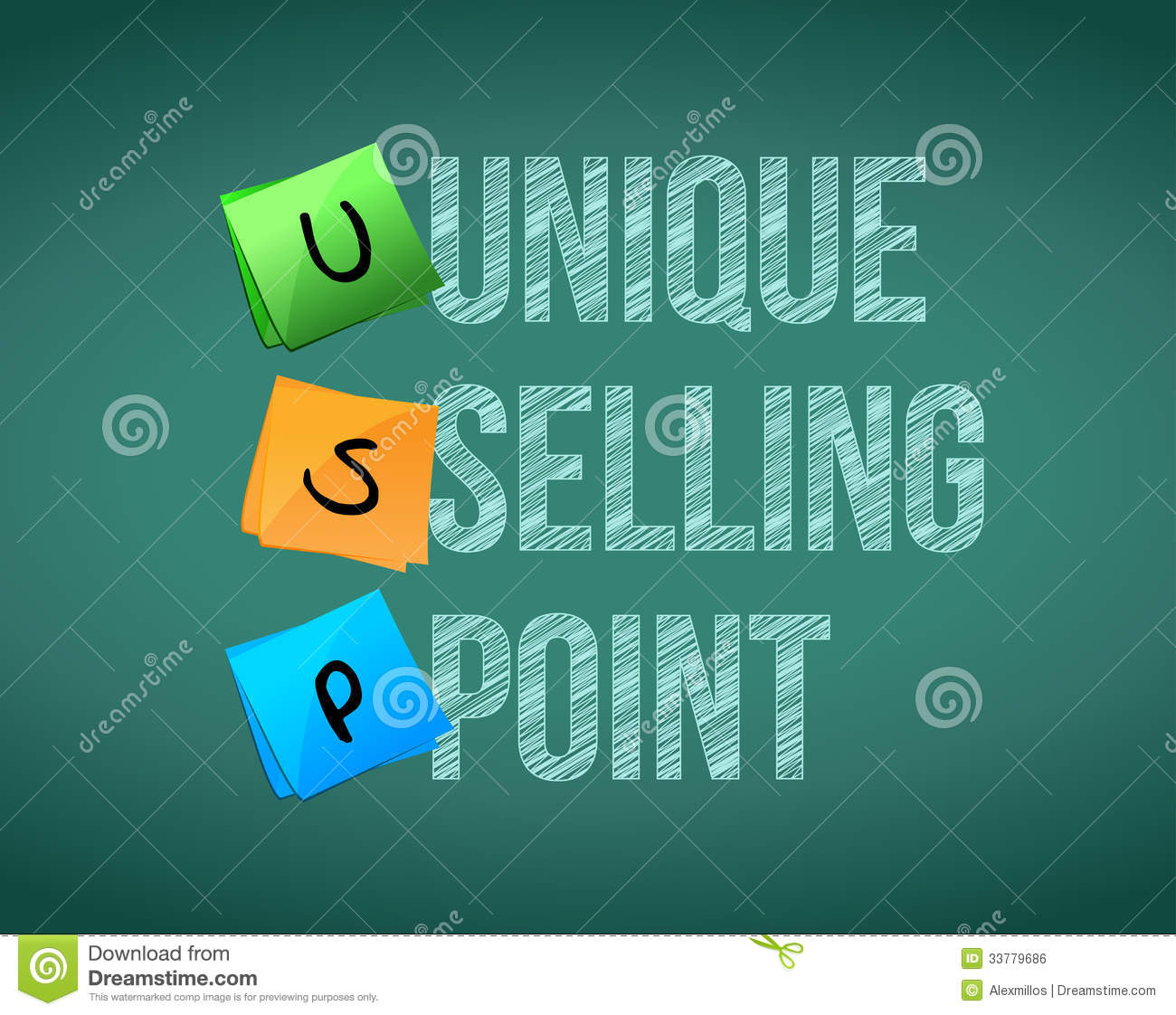 Unique Selling Point Concept Illustration Design Royalty ... Key To Success Clipart