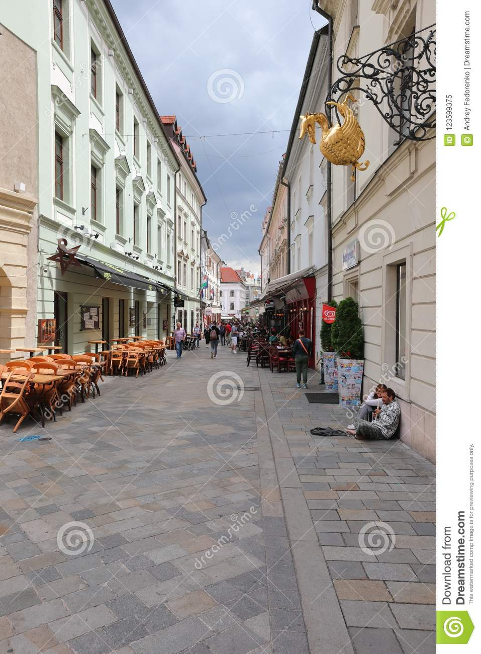 Unique streets of old Bratislava, fascinate by the charm, a cosiness and excellent beer.