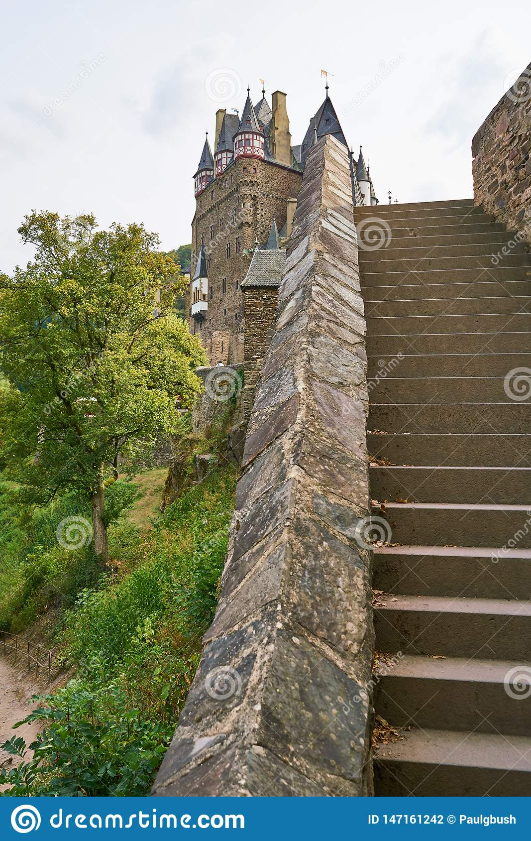 Unique view of Burg Eltz in the Moselle Region, Germany