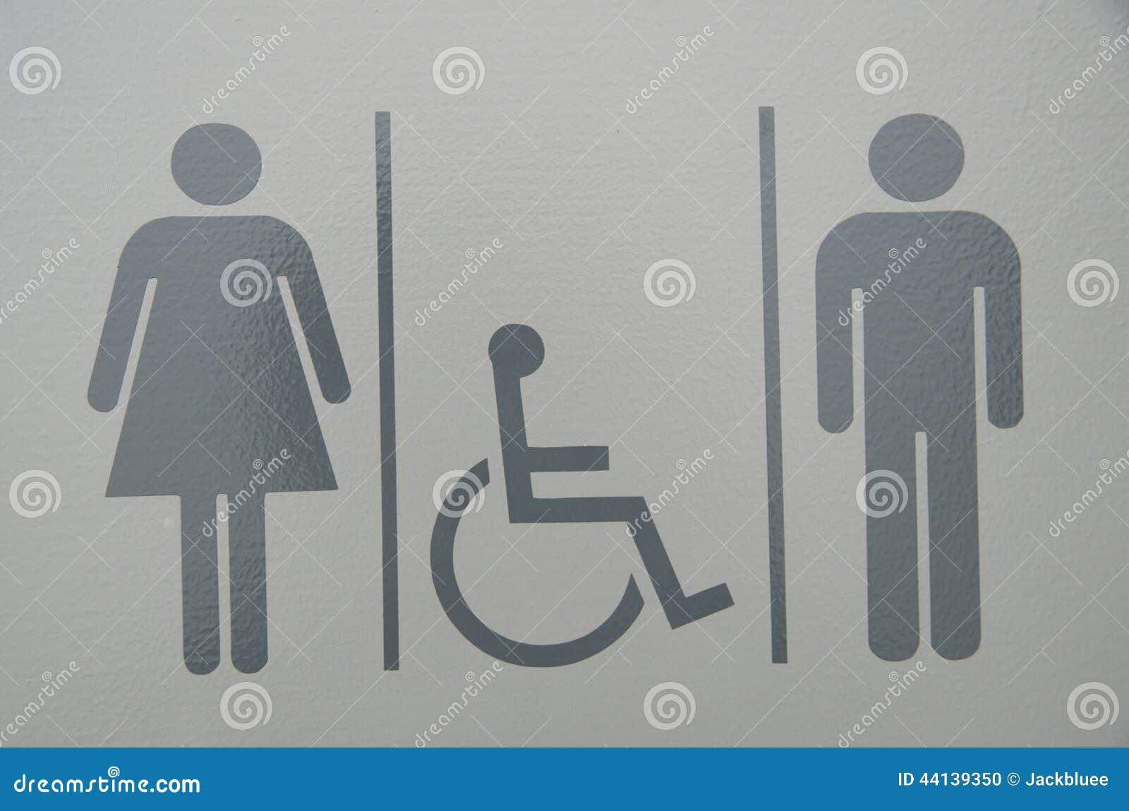 Unisex Handicap Bathroom Sign Stock Photo Image Of Simple - Unisex handicap bathroom sign