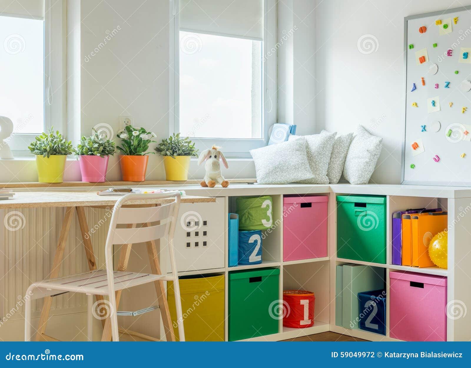 Kid Room Design unisex kids room design stock photo - image: 59049972