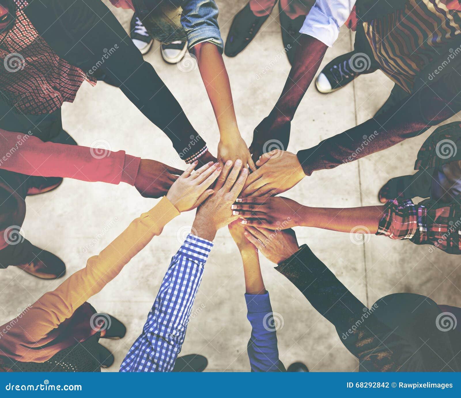 Unità etnica Team Concept di variazione di etnia di diversa diversità
