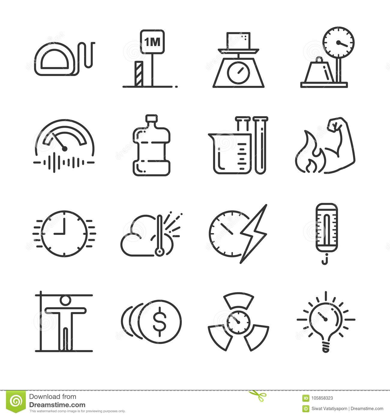 unit of measurement icon set  included the icons as miles