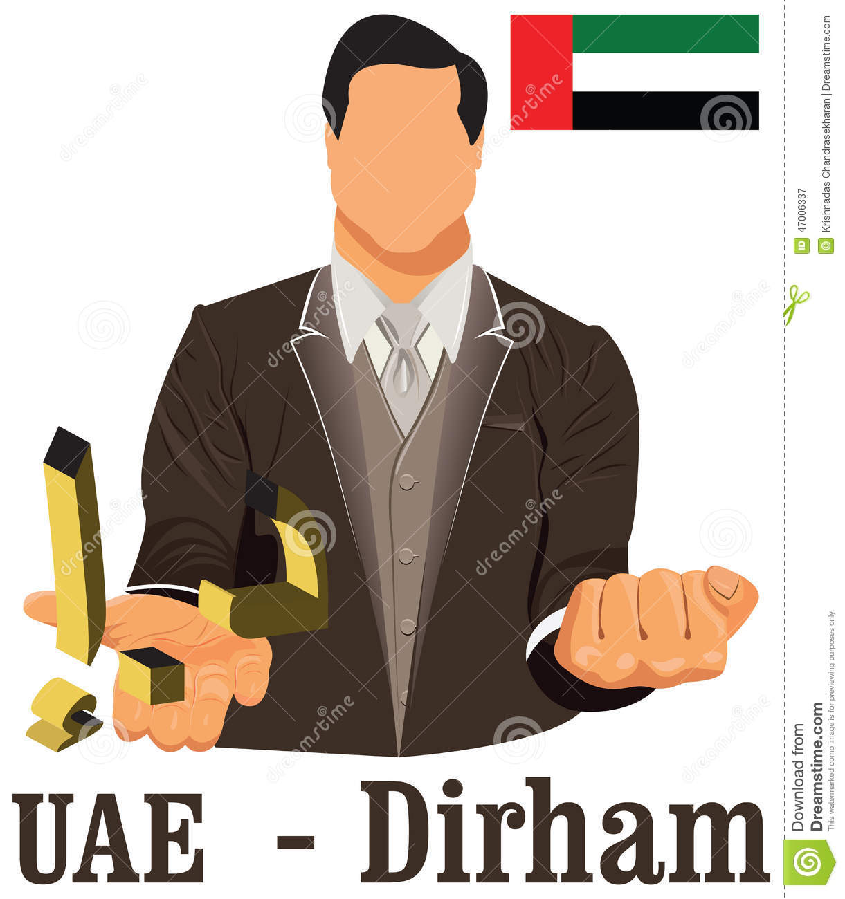 United Arab Emirates Currency Symbol Dirham Representing Money And