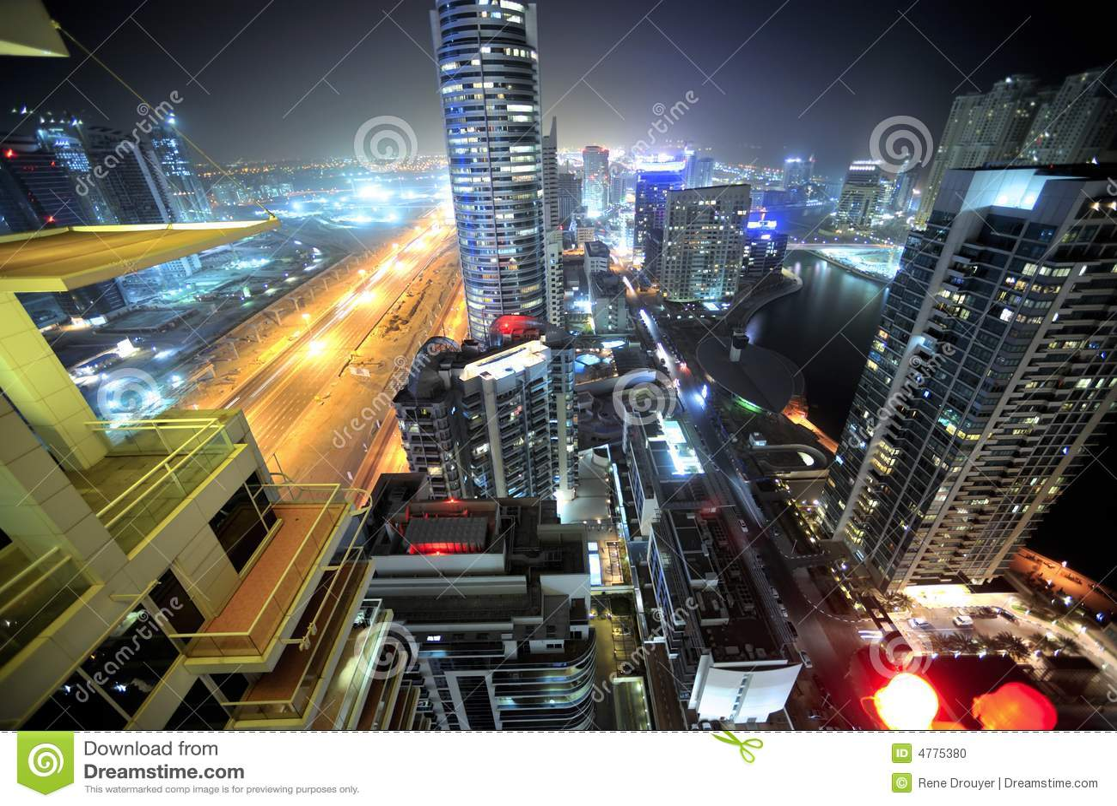 United Arab Emirates: Dubai-Skyline nachts