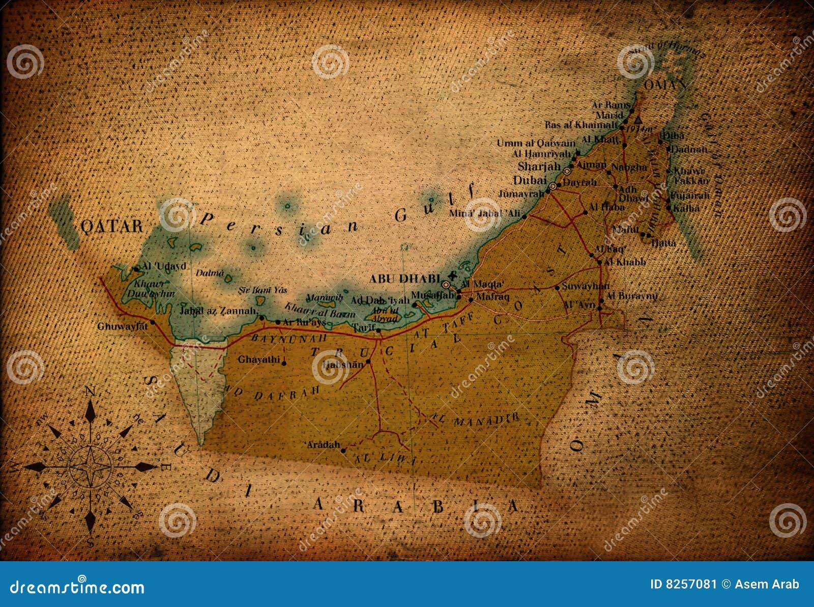 United Arab Of Emirates Map Stock Image - Image: 8257081