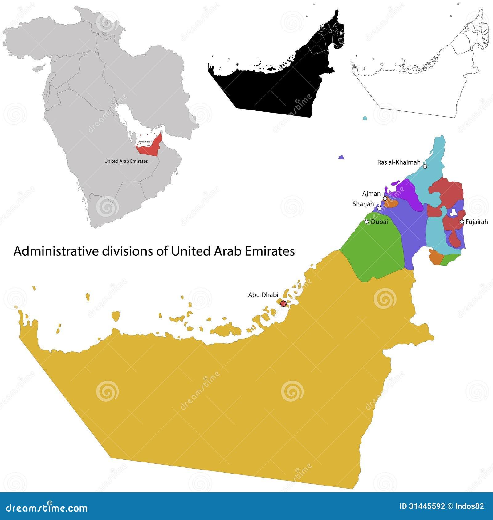 United Arab Emirates Map Photography Image 31445592 – Dubai United Arab Emirates Map