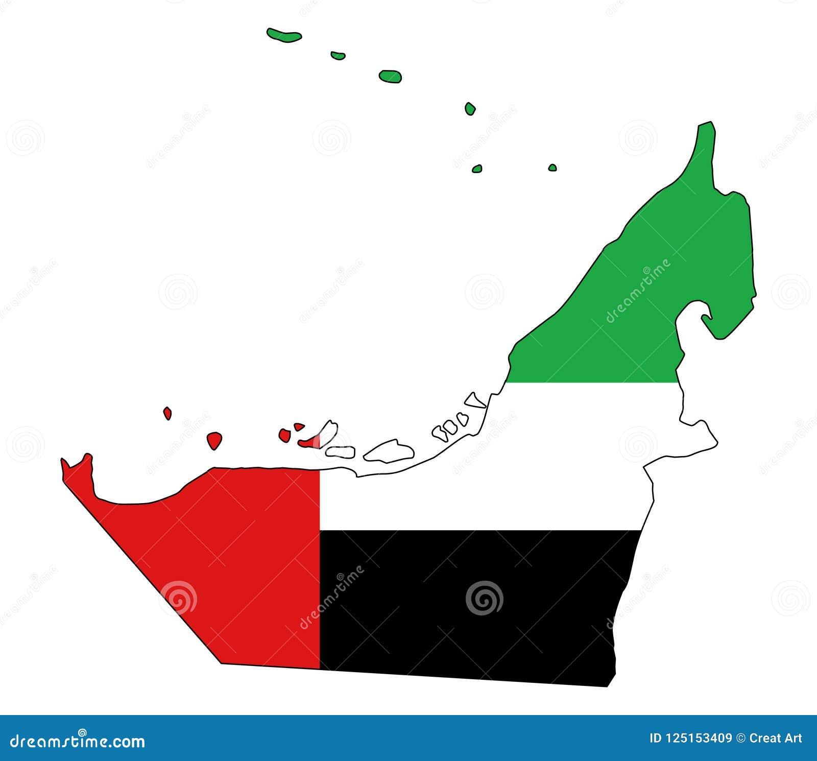 United Arab Emirates.Map Of UAE Vector Illustration Stock Vector ...