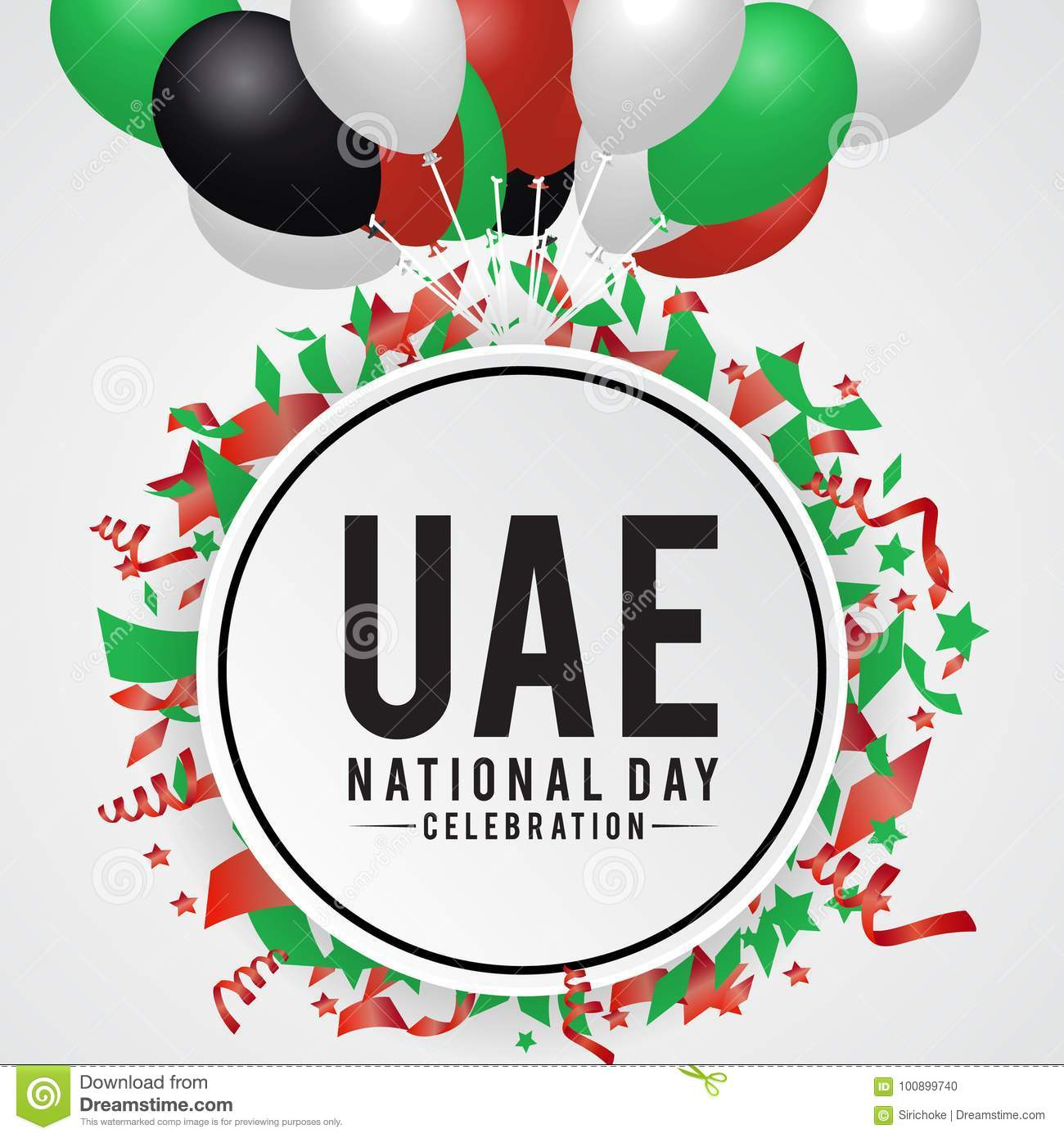 United Arab Emirates National Day Background Stock Vector ...