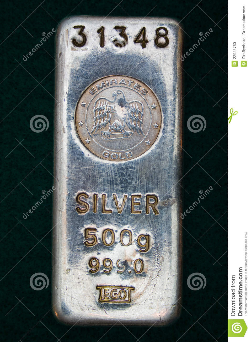 United Arab Emirates Silver Bullion Bar Editorial Image