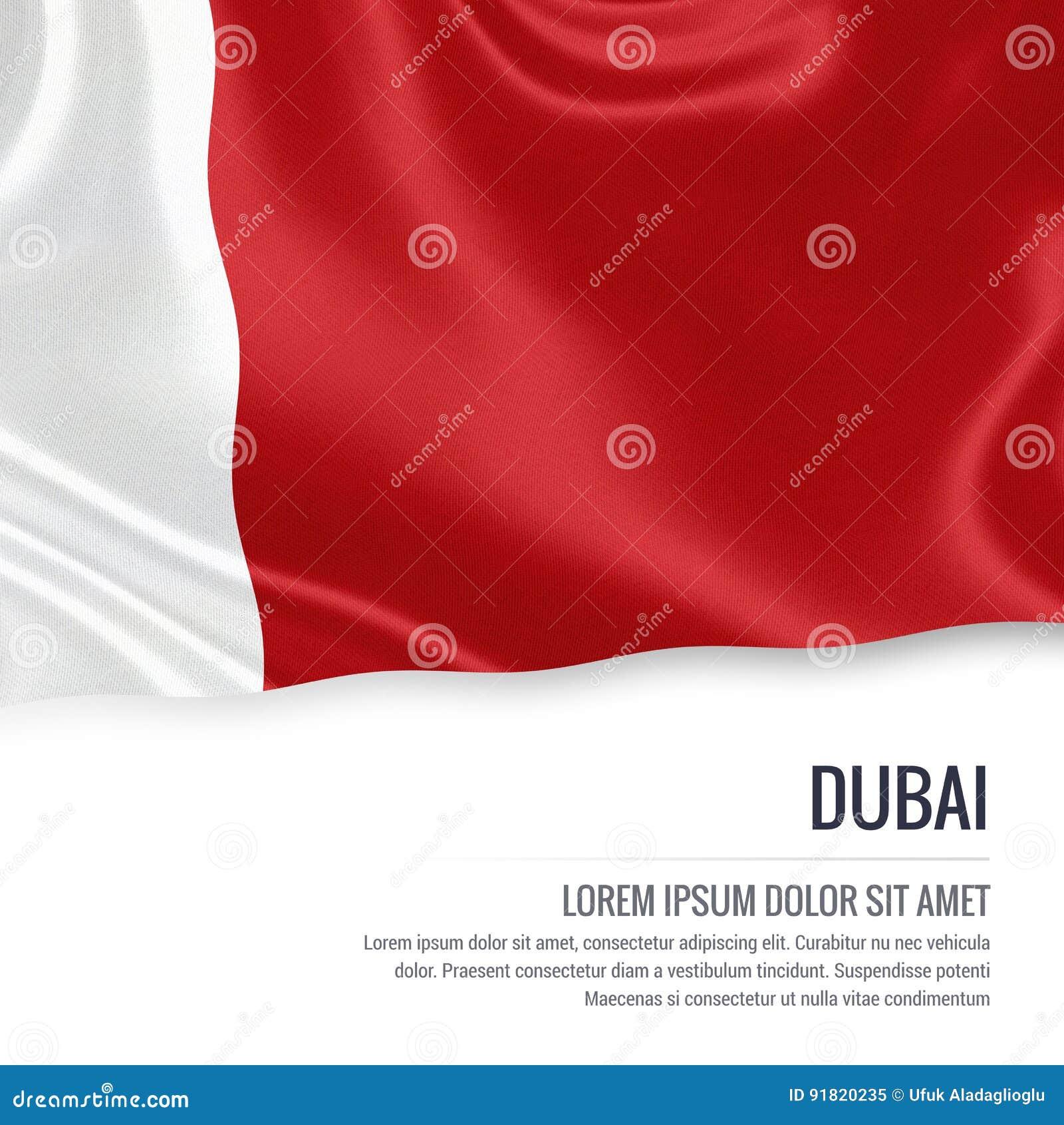 The United Arab Emirates State Dubai Flag Stock Illustration