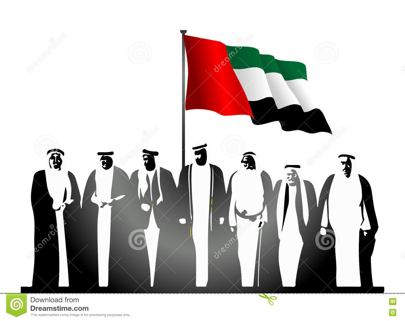 united arab emirates uae national day logo stock