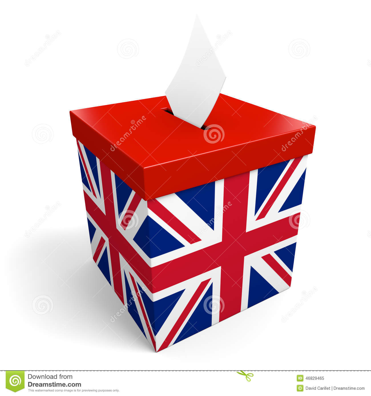 Box United Kingdom  City pictures : Stock Illustration: United Kingdom ballot box for collecting election ...