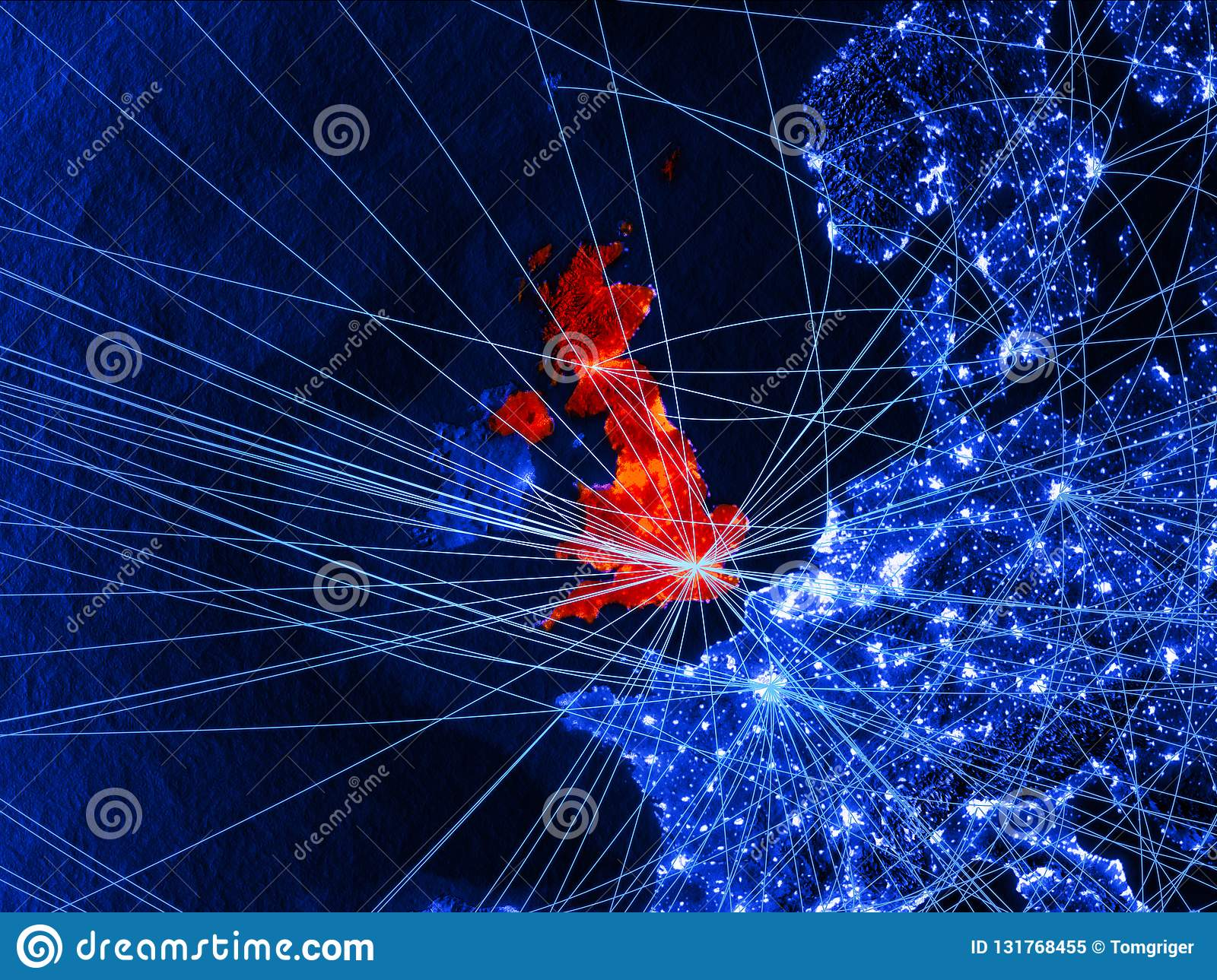 United Kingdom On Blue Digital Map With Networks. Concept Of ... on military time map, sketch map, brand experience map, ntsc map, quantum map, 1080p map, ds2 map, terrain map, donakonda map, computerized map, guerrilla map, data map, iptv map, optical map, electronic map, city map, open here map, hologram map, surreal map, crowdsourcing map,