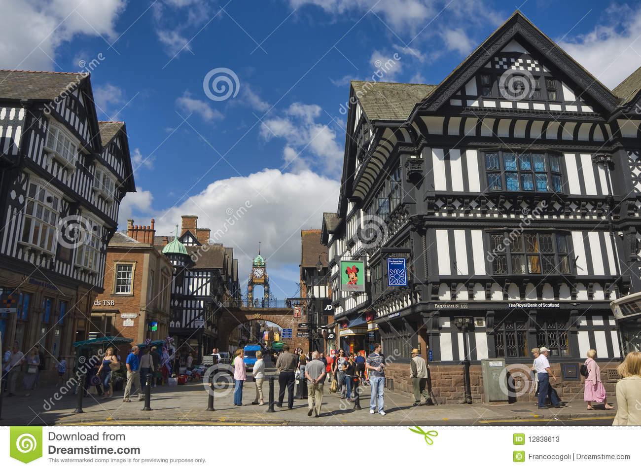 Chester United Kingdom  city photos gallery : United Kingdom England Chester Foregate Street and the Eastgate ...