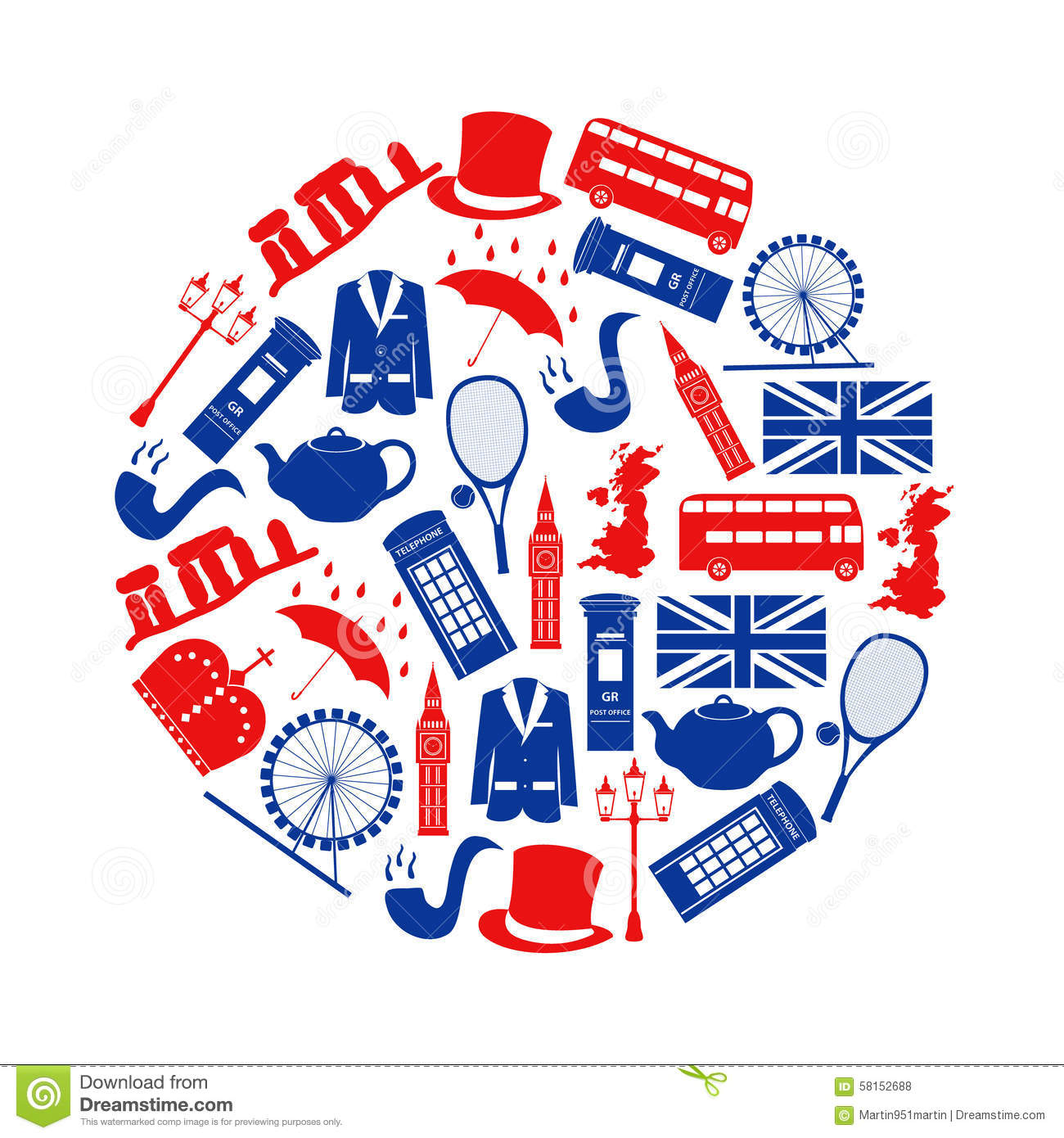 Thame United Kingdom  City new picture : United Kingdom Country Theme Symbols And Icons In Circle Stock Vector ...