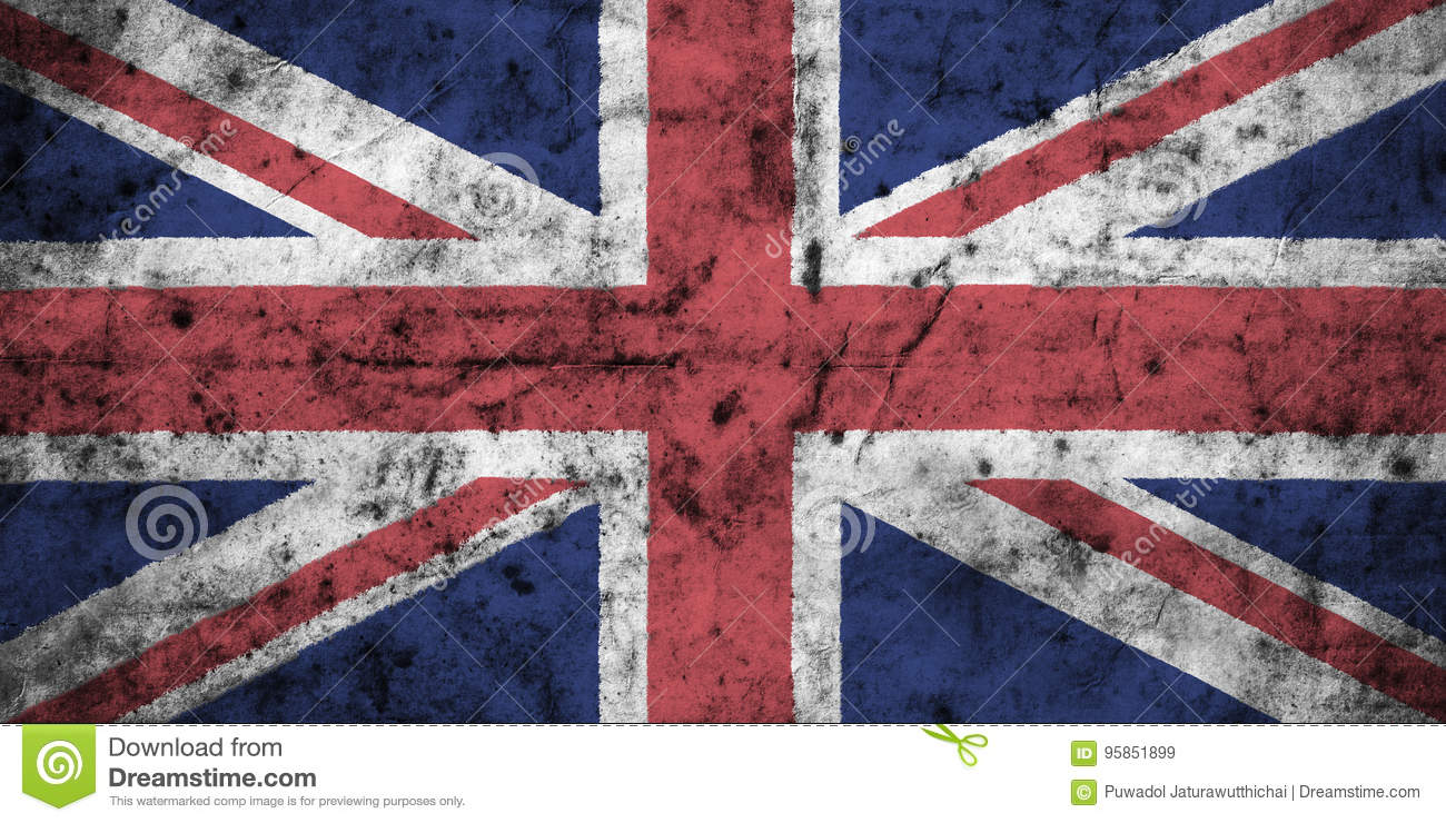 United kingdom flag with high detail of old dirty crumpled paper . 3D illustration.