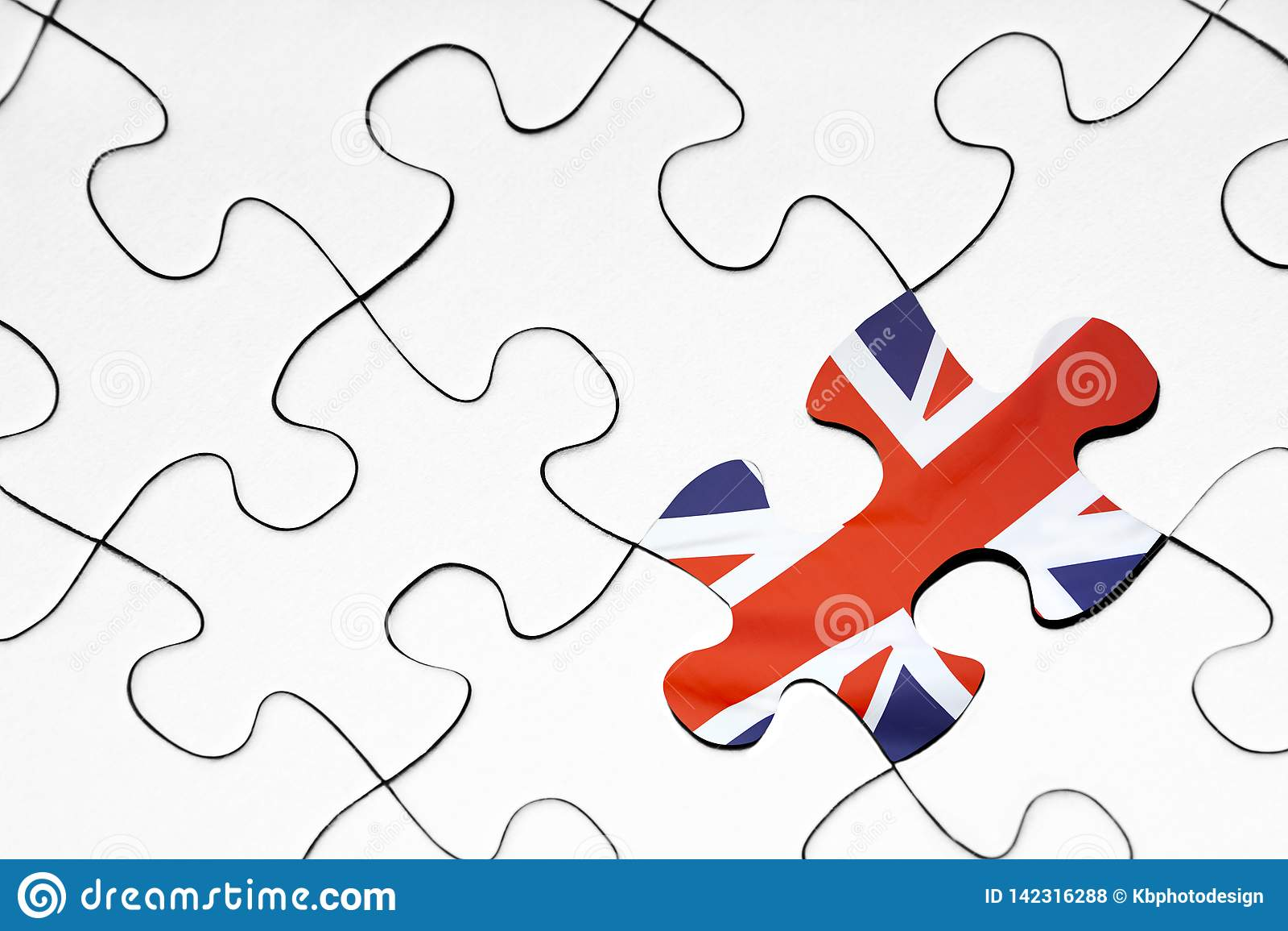 United kingdom flag puzzle piece