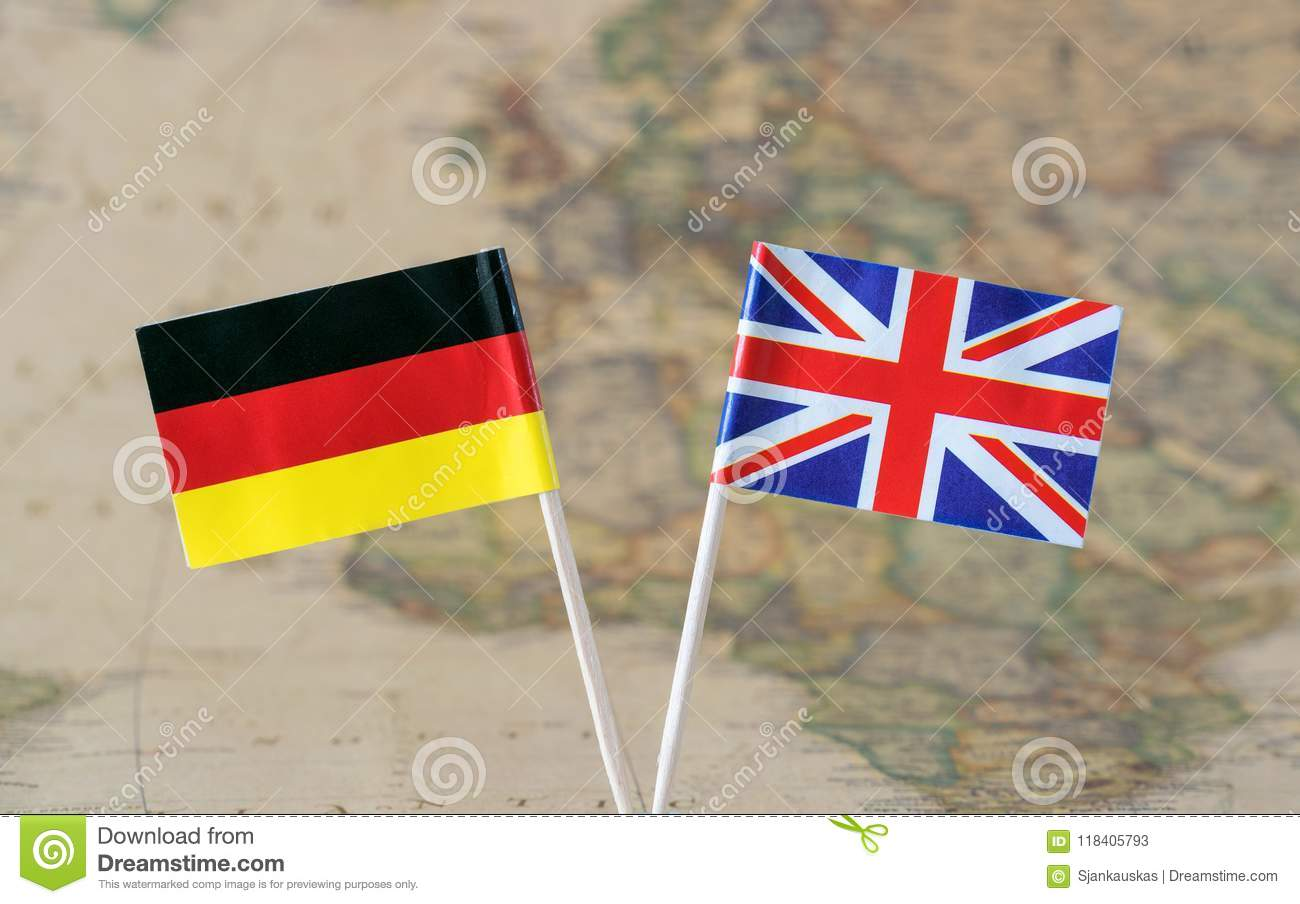 The united kingdom and germany flag pins on a world map background download the united kingdom and germany flag pins on a world map background political relations gumiabroncs Image collections