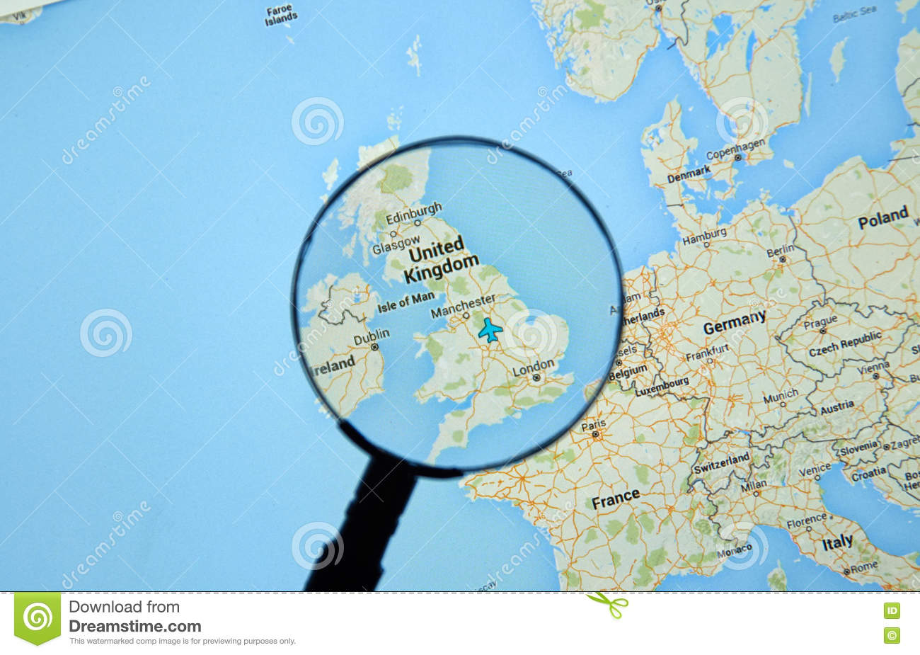 Map Of England Google Maps.United Kingdom On Google Maps Editorial Stock Image Image Of