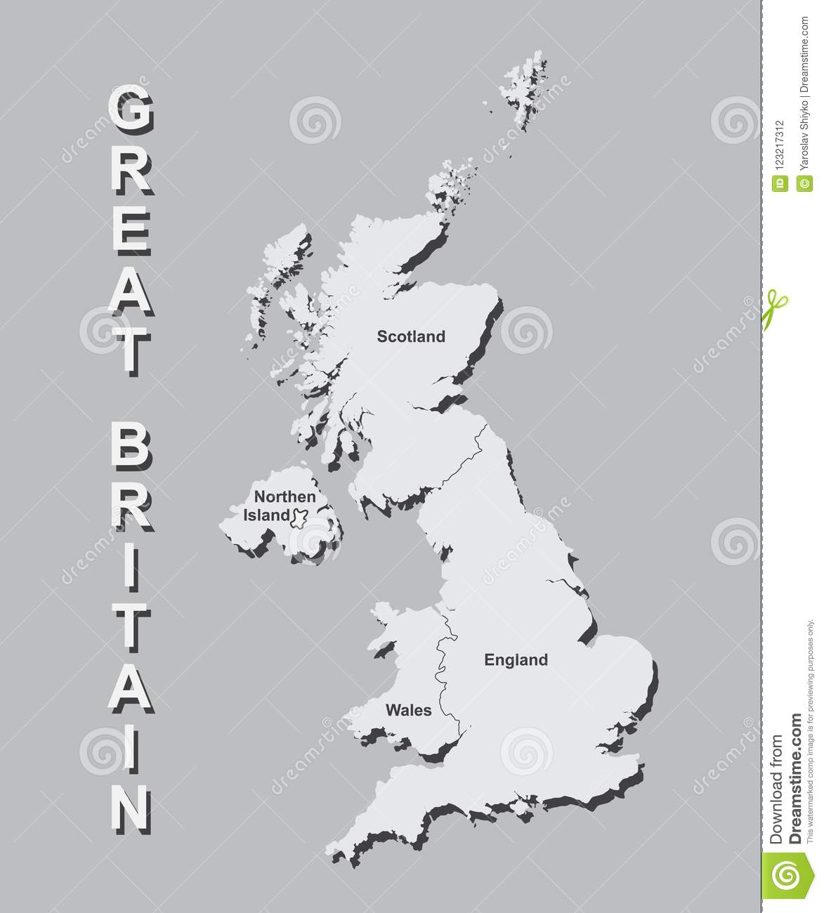 Big Map Of England.United Kingdom Map With Big Cities Uk Map With Borders On Grey