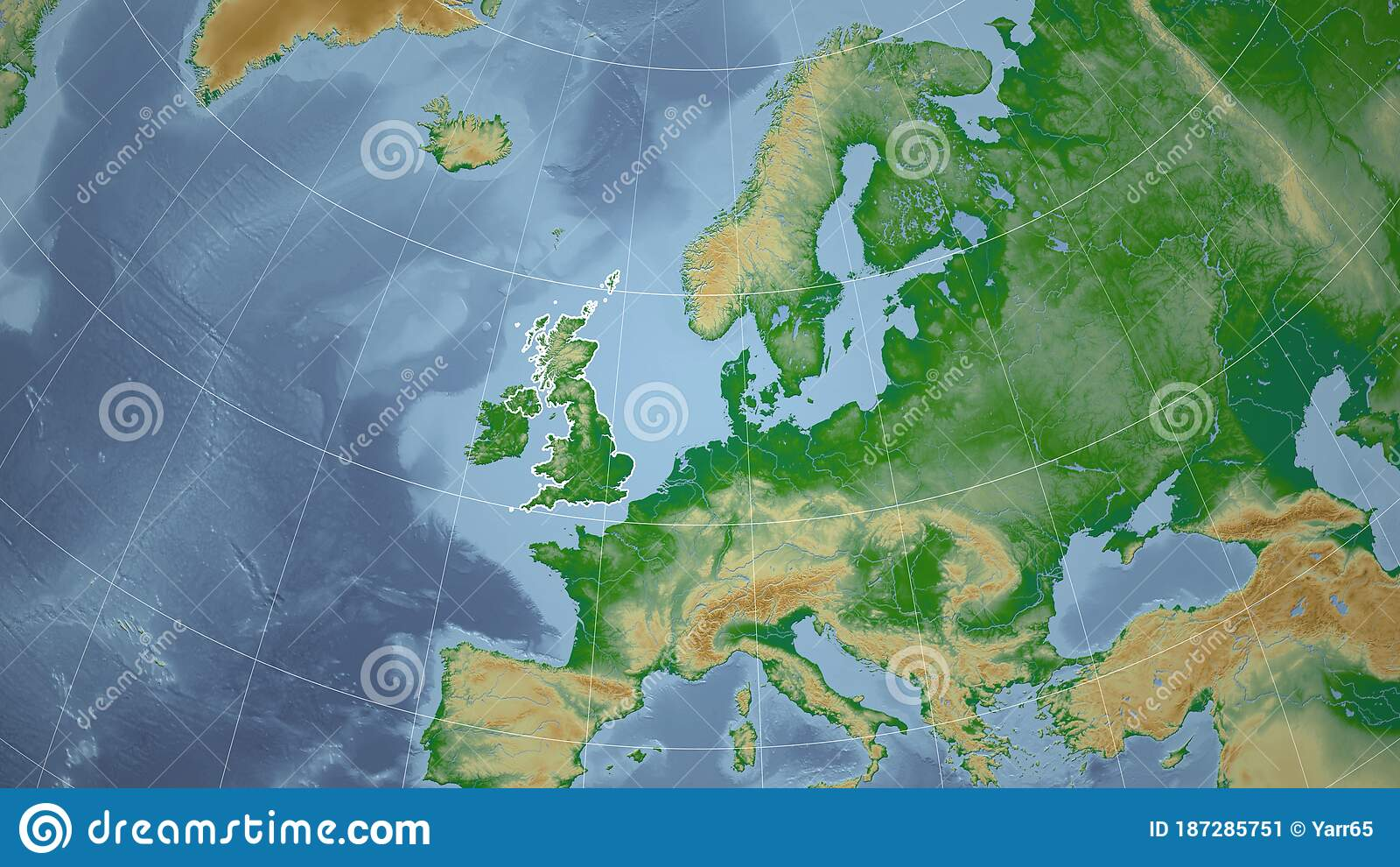 Picture of: United Kingdom Physical Neighborhood Outline Stock Illustration Illustration Of Isolated Surface 187285751