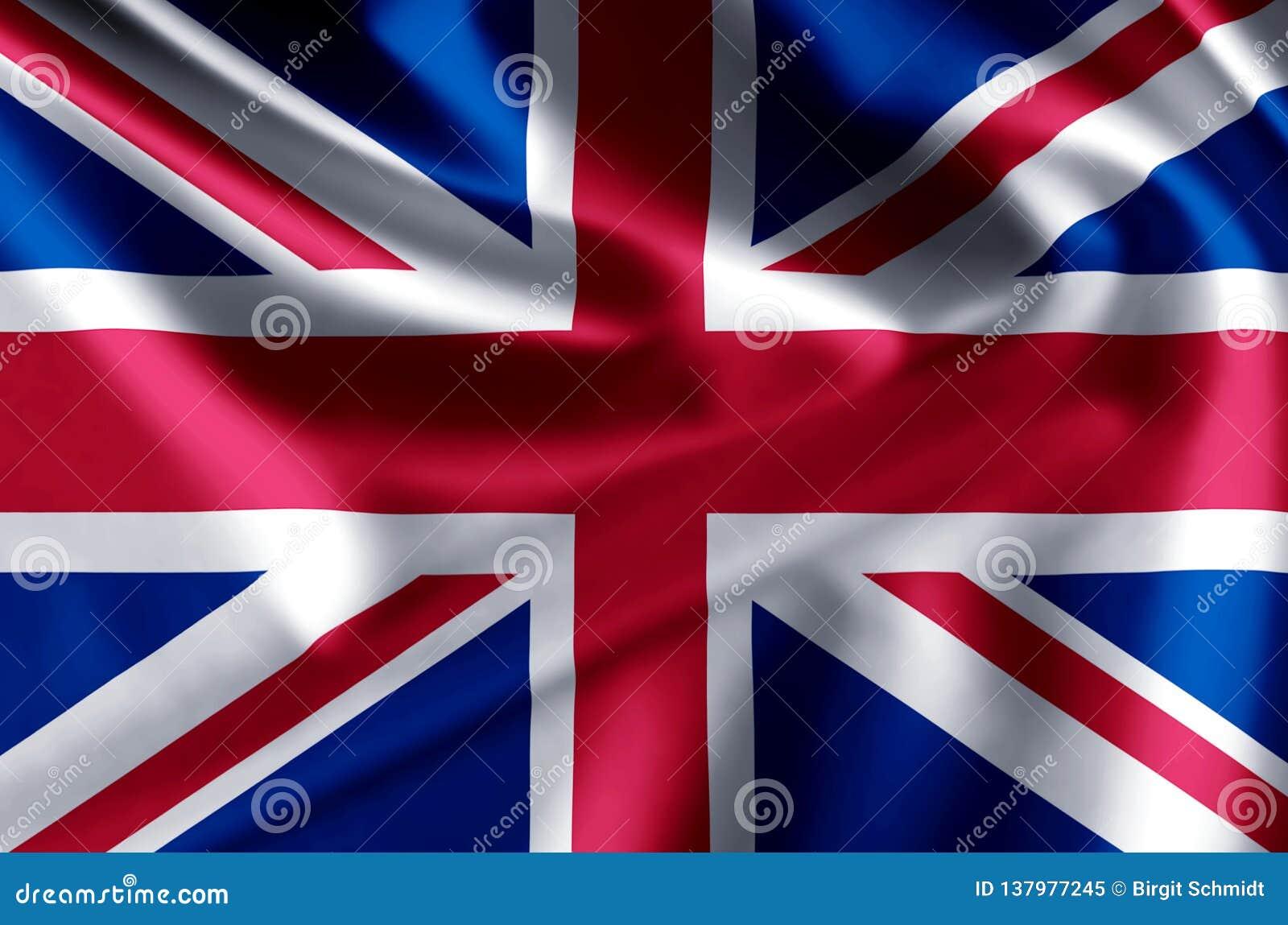 United kingdom realistic flag illustration.