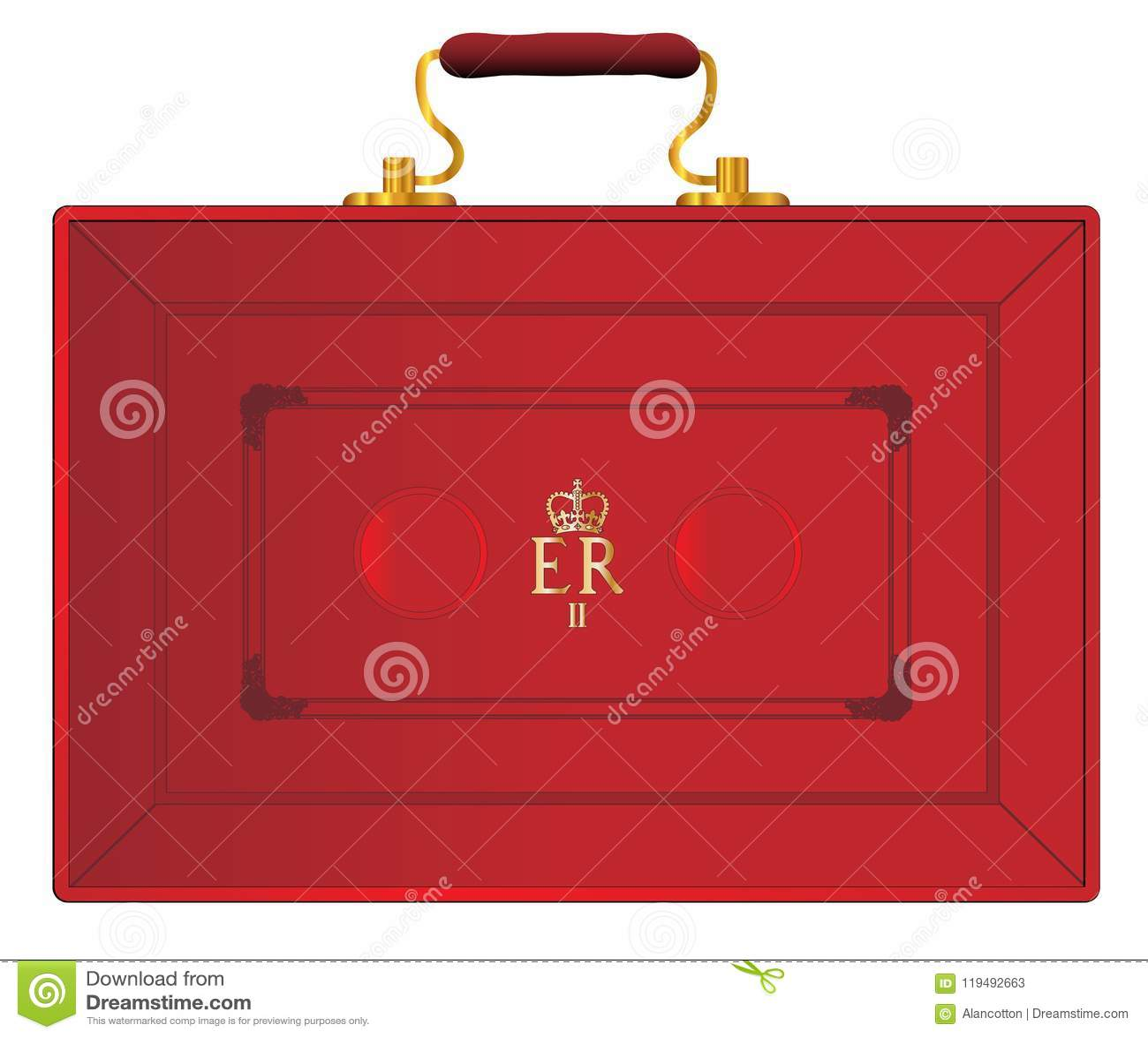 United Kingdom Red Budget Box