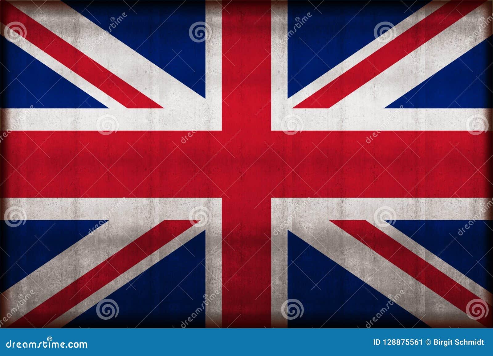 United kingdom rusty flag illustration