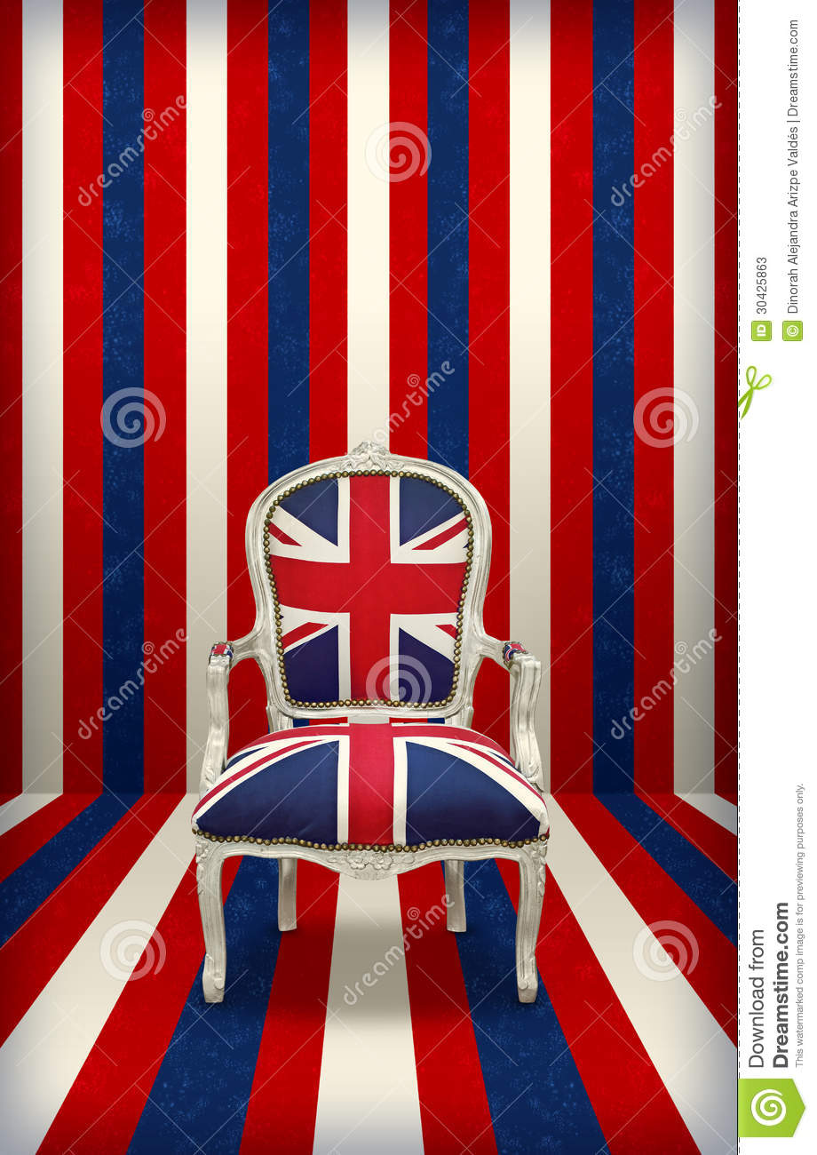 Royalty-Free Stock Photo. Download British flag luxury chair ...
