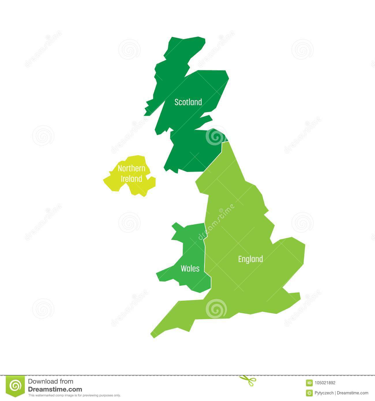 Map Of Uk Scotland And Ireland.United Kingdom Uk Of Great Britain And Northern Ireland Map