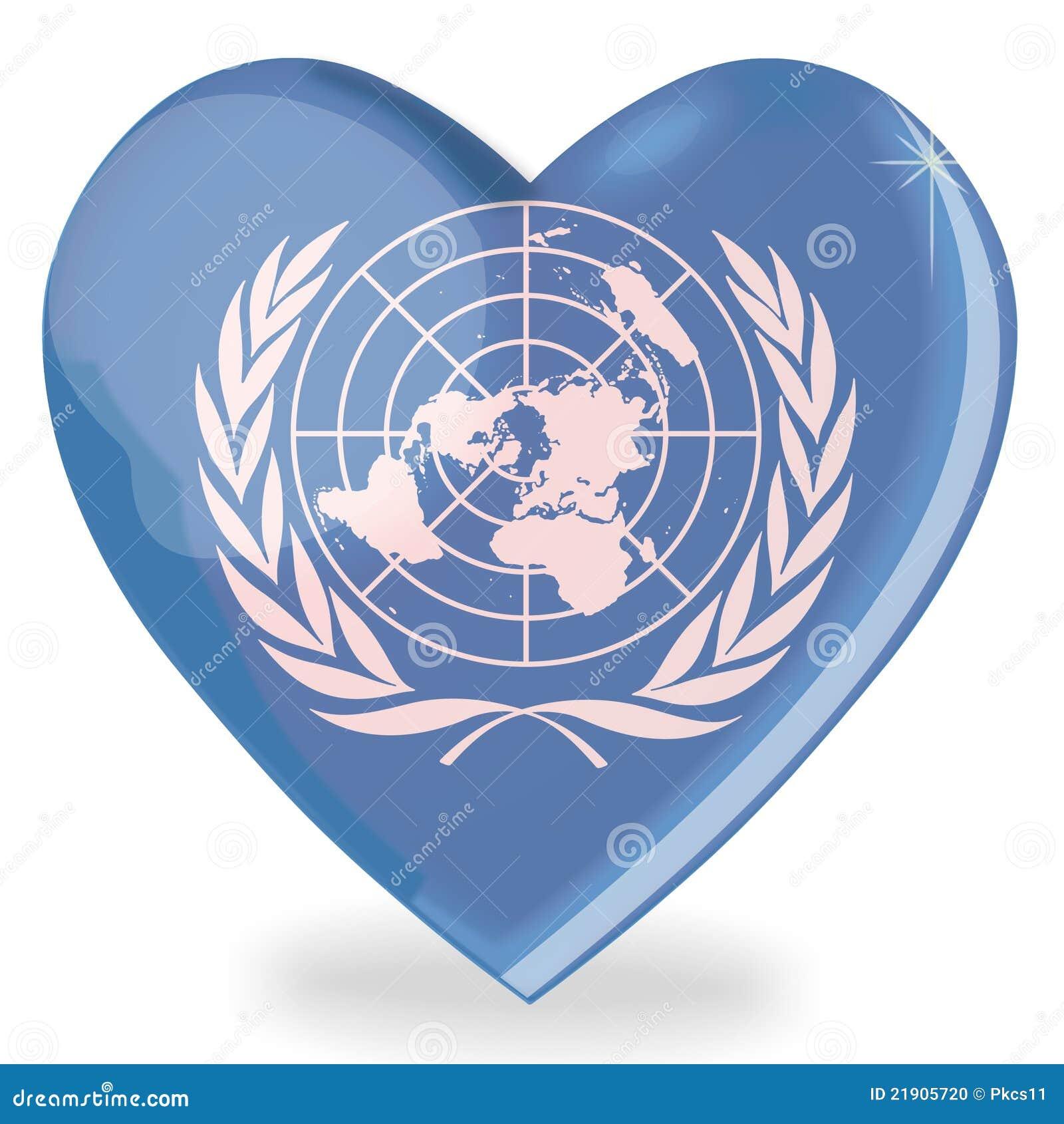 united nations flag heart shape stock illustration image 21905720. Black Bedroom Furniture Sets. Home Design Ideas