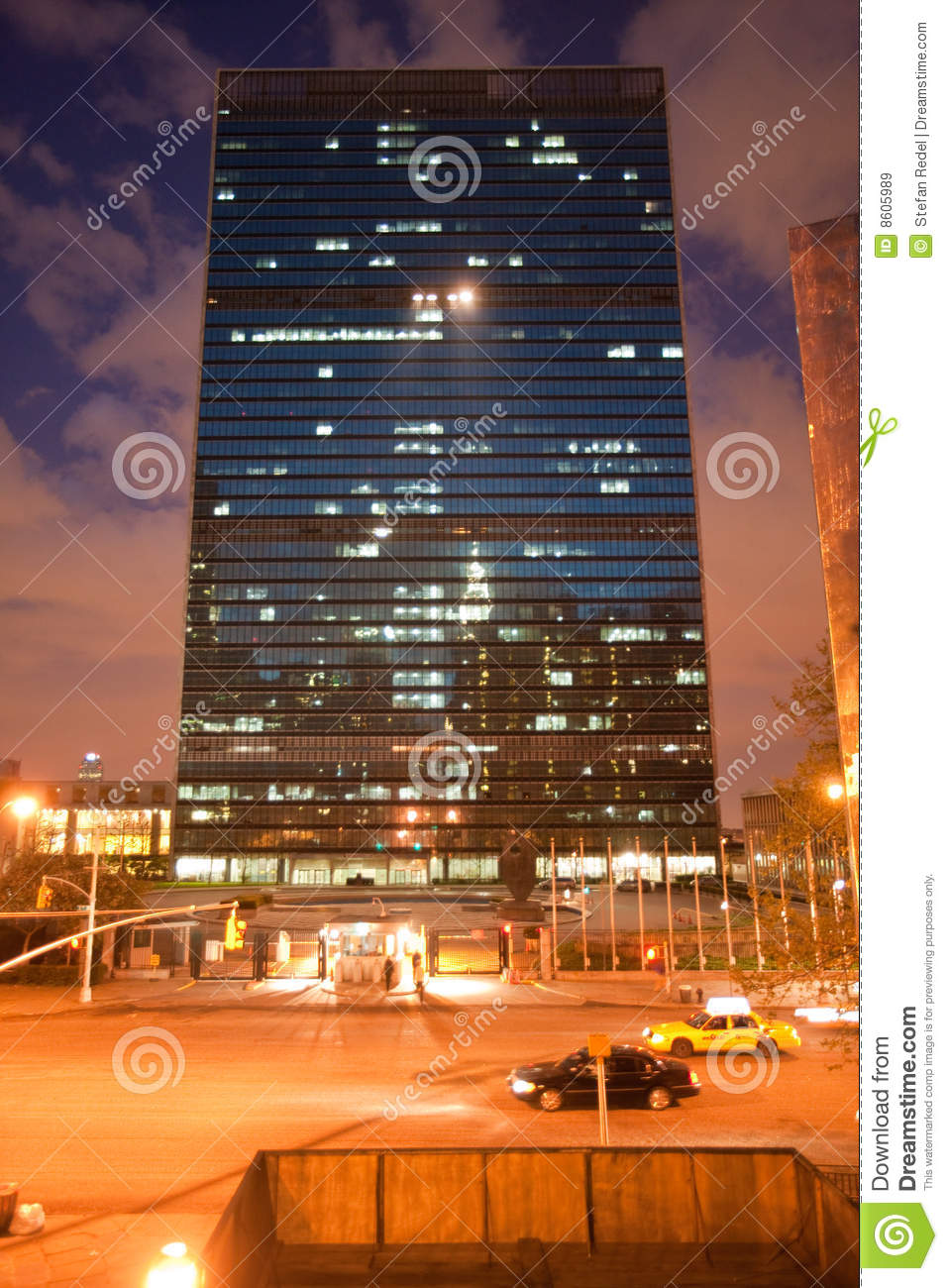 New york apartment night : Royalty free stock images united nations headquarters image
