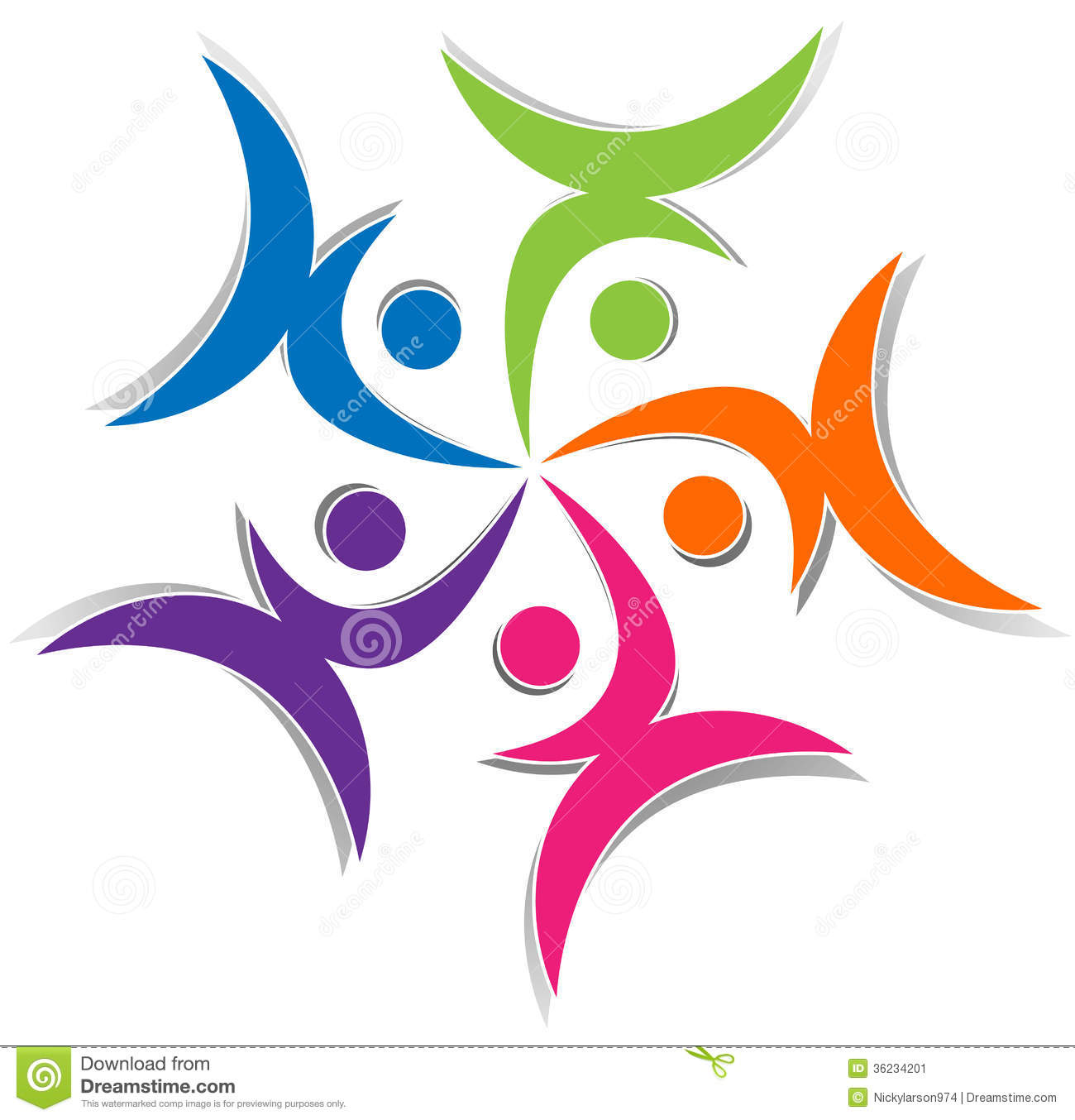 united people stock vector image of group overall