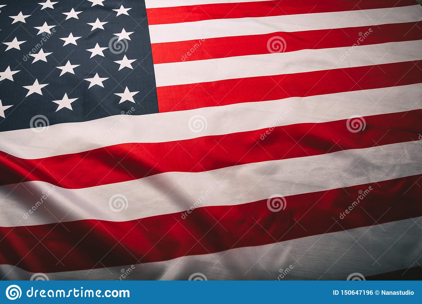 United States of America flag. Image of the american flag flying in the wind