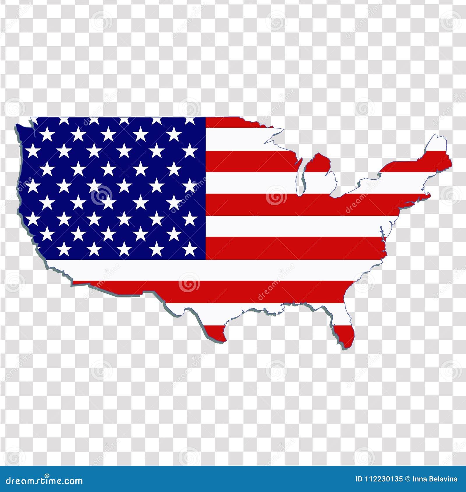 United States Of America. Illustration. Stock Vector ...
