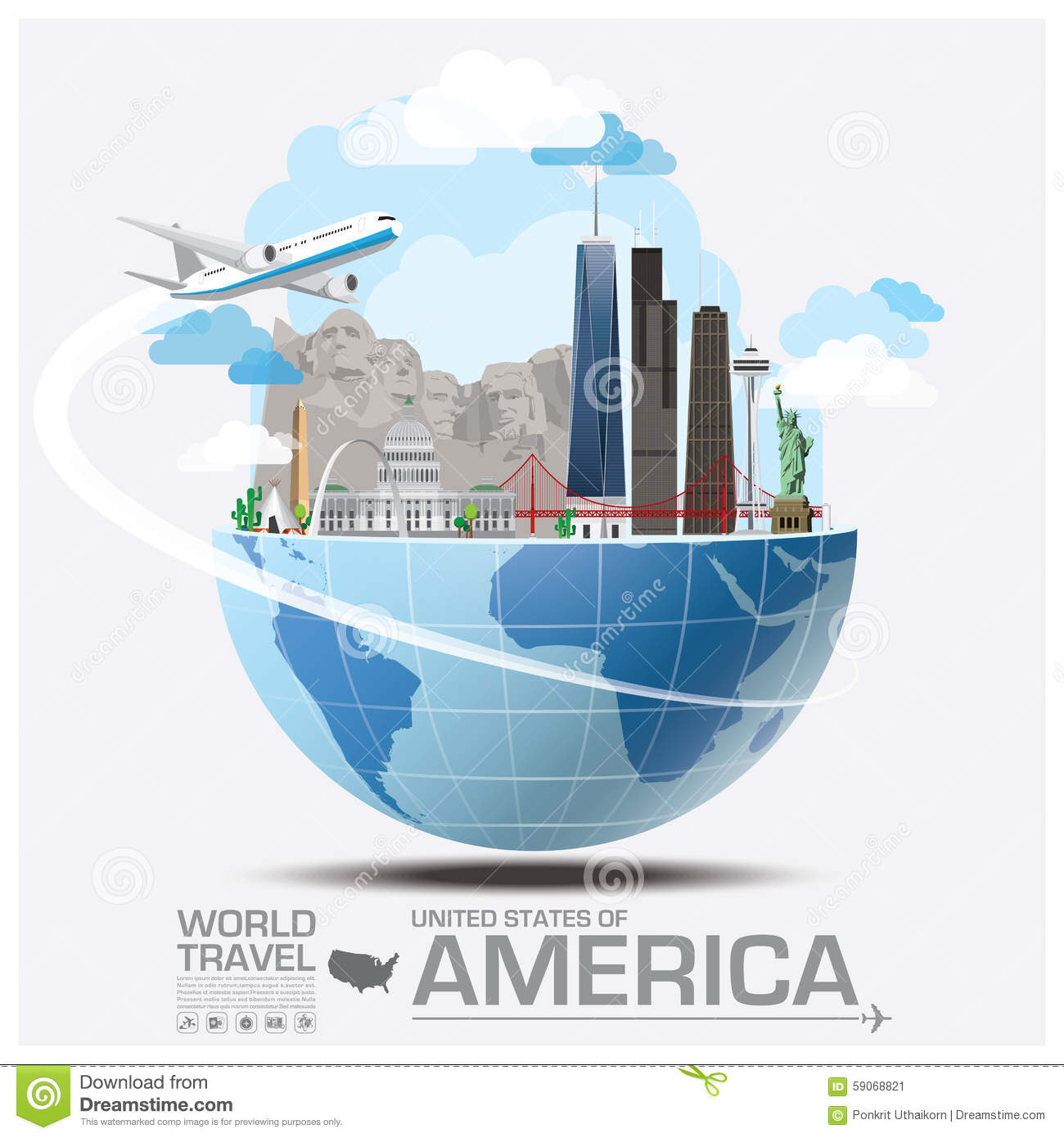 Traveling To The United States: United States Of America Landmark Global Travel And