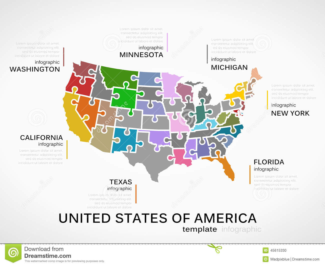 United States Of America Map Stock Vector Image - A picture of the united states of america map