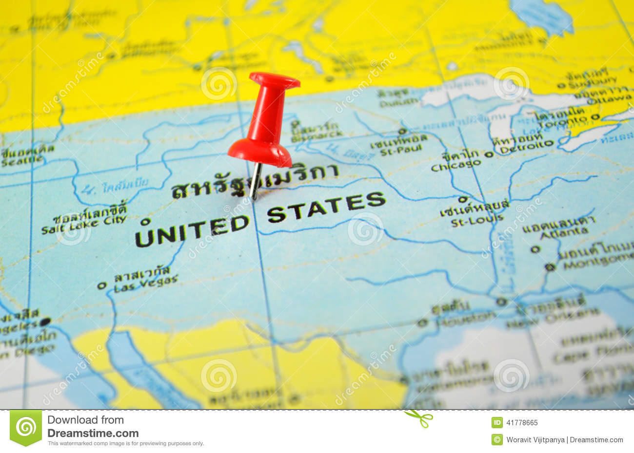 United States America Map Stock Photo Image - United state of america map