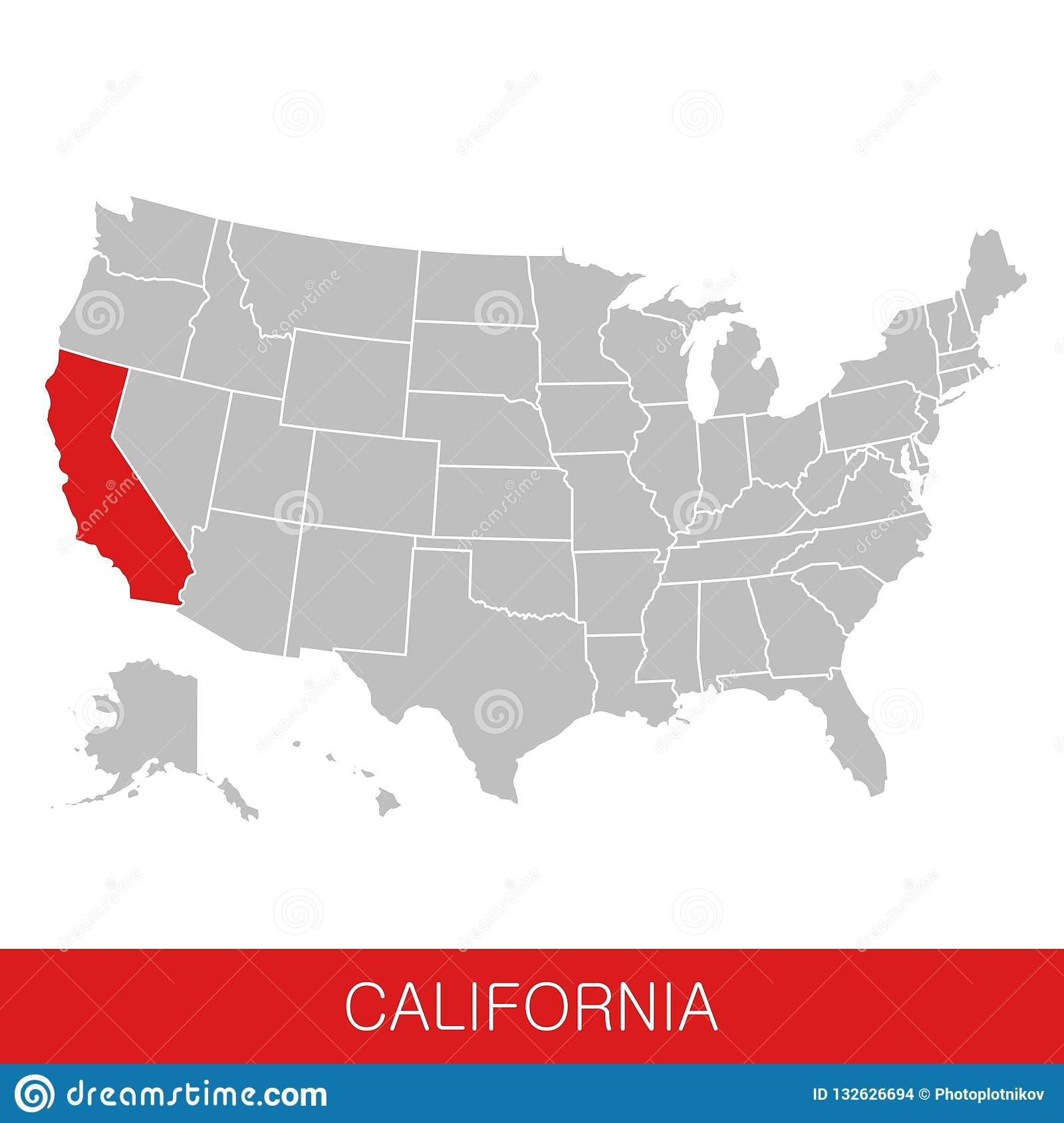 United States Of America With The State Of California ... on usa map oregon, usa map montana, usa map iowa, usa map new york, usa map alaska, usa map georgia, usa map maine, usa map hawaii, usa map maryland, usa map san francisco, usa map virginia, usa map connecticut, usa map vermont, usa map florida, usa map michigan, usa map at night, usa map wisconsin, usa map colorado, usa map idaho, usa map pennsylvania,