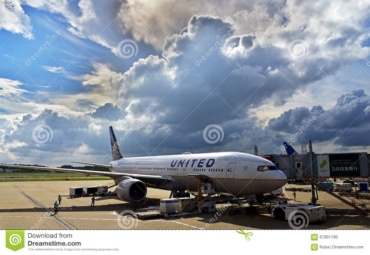 United States of America-Texas, Austin, September 2015. The aircraft united airlines at the airport in Austin, September 2015