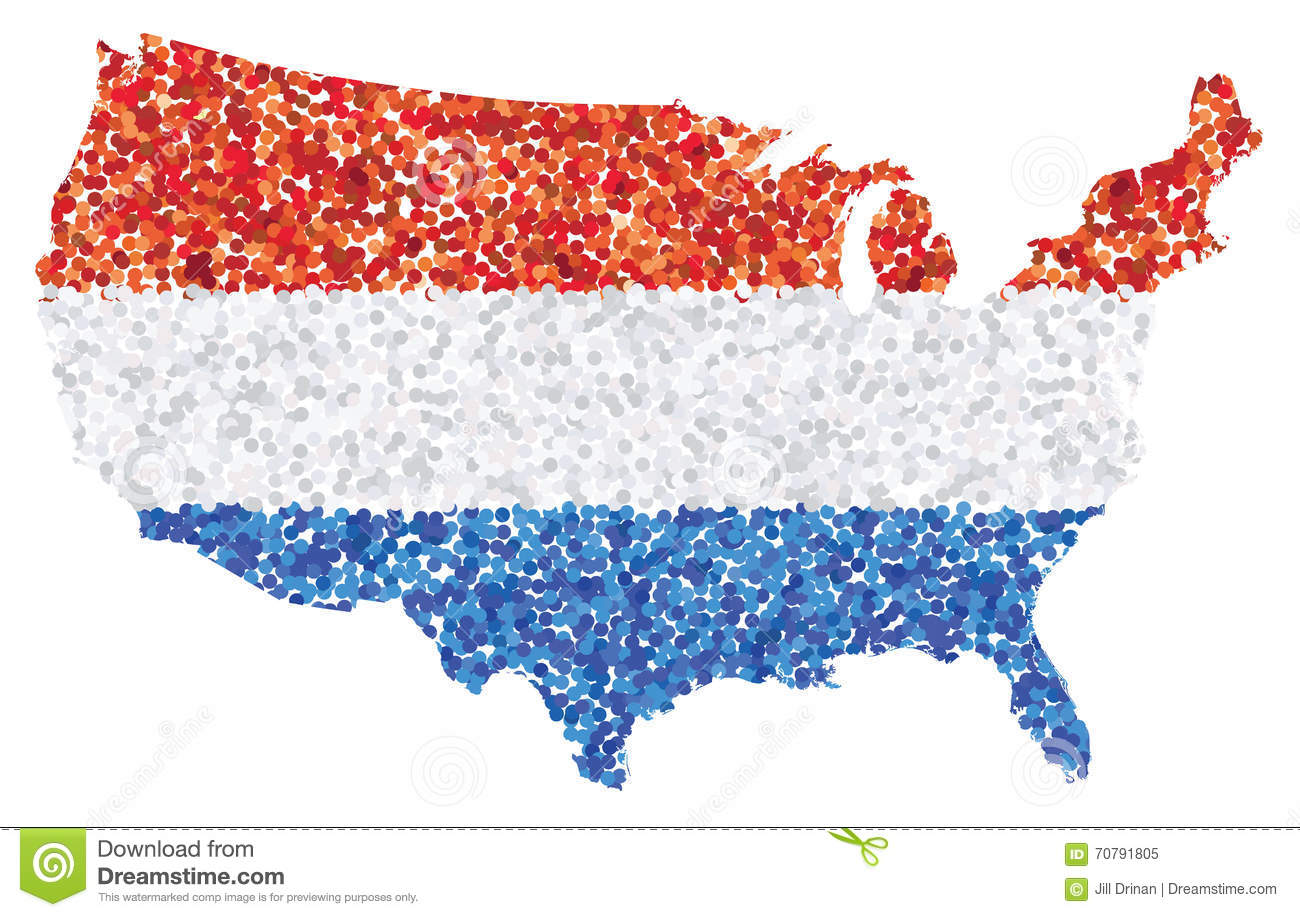 Us Map Showing Red And Blue States - Red blue map of us