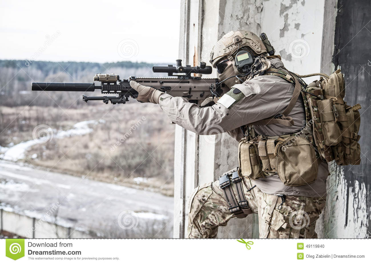 United States Army ranger during the military operation.