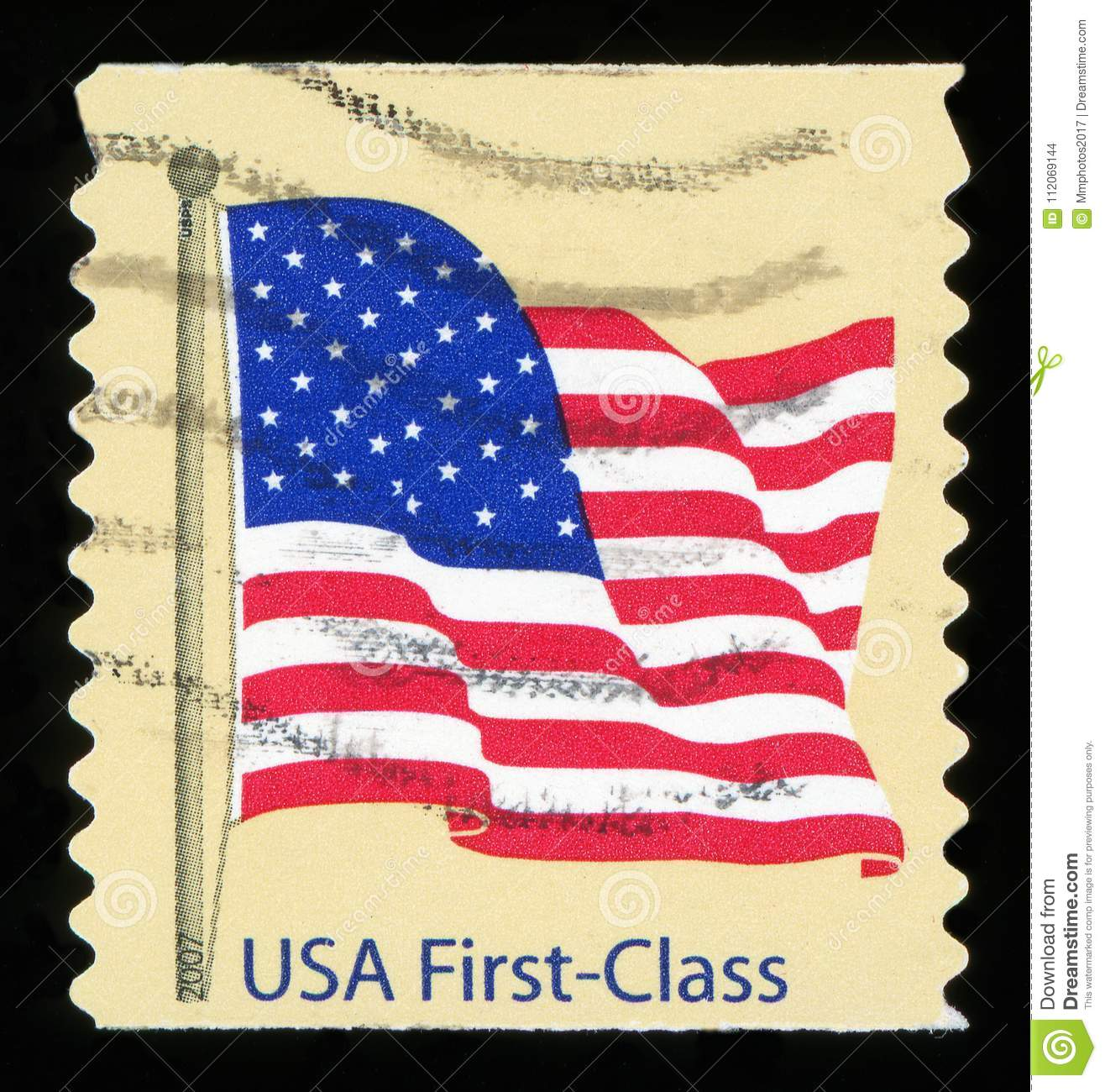 US Postage Stamp Stock Photo Image Of America Features
