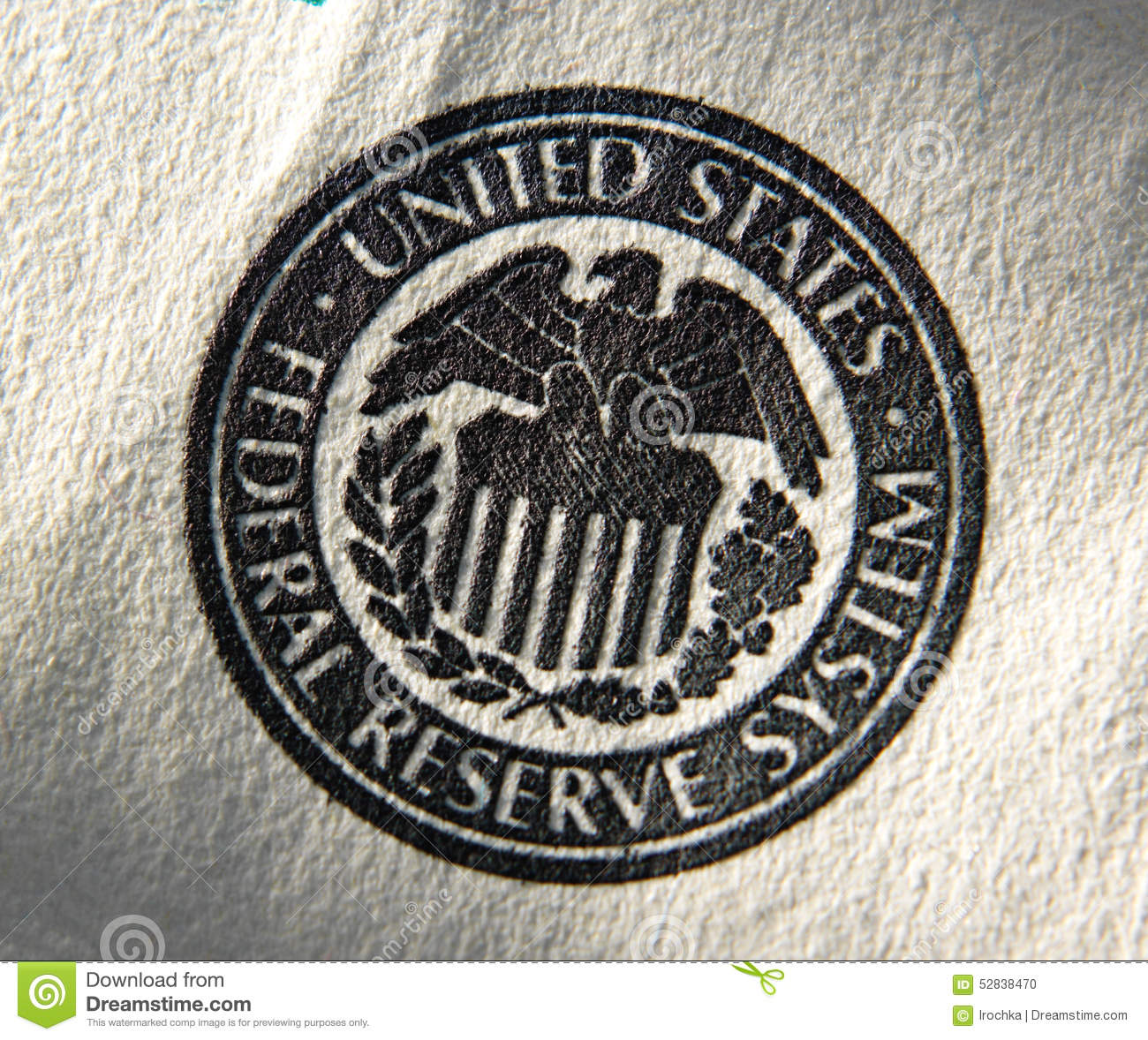 United States Federal Reserve System Symbol Stock Photo Image Of